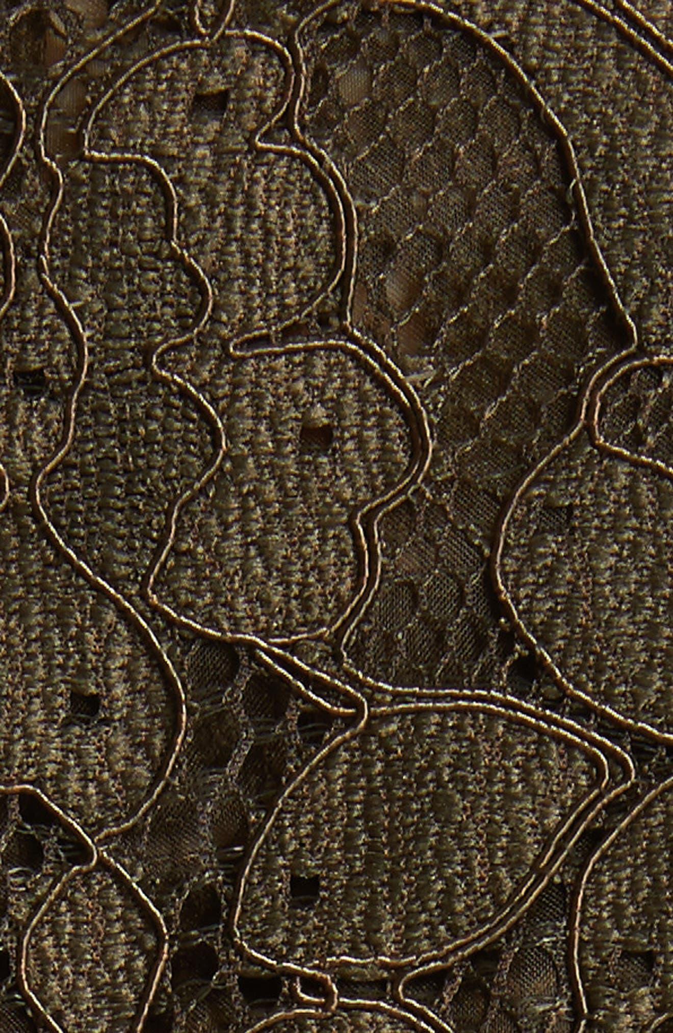 Daniela Tie Neck Lace Army Jacket,                             Alternate thumbnail 6, color,                             310