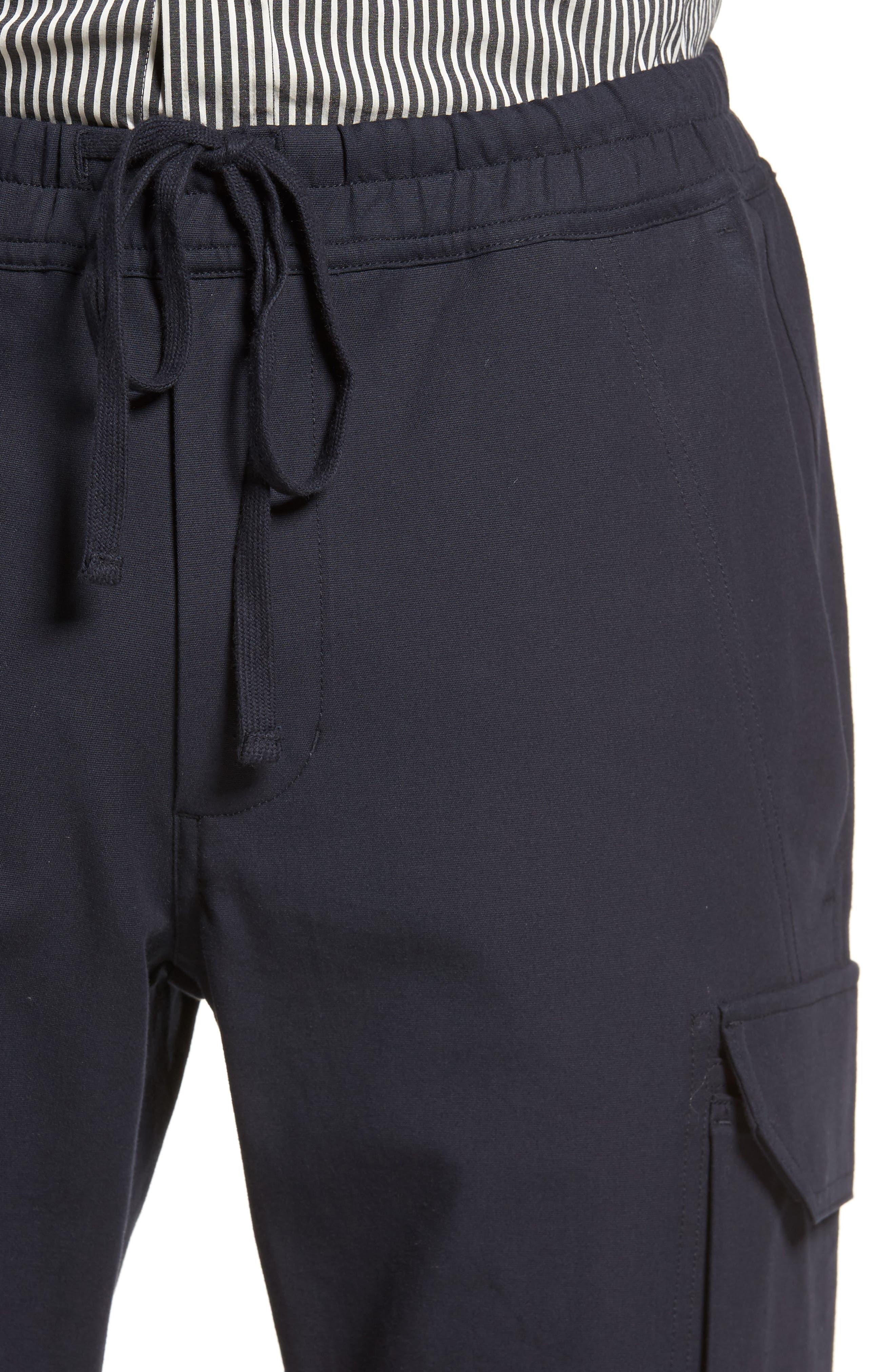 Regular Fit Drawstring Pants,                             Alternate thumbnail 4, color,