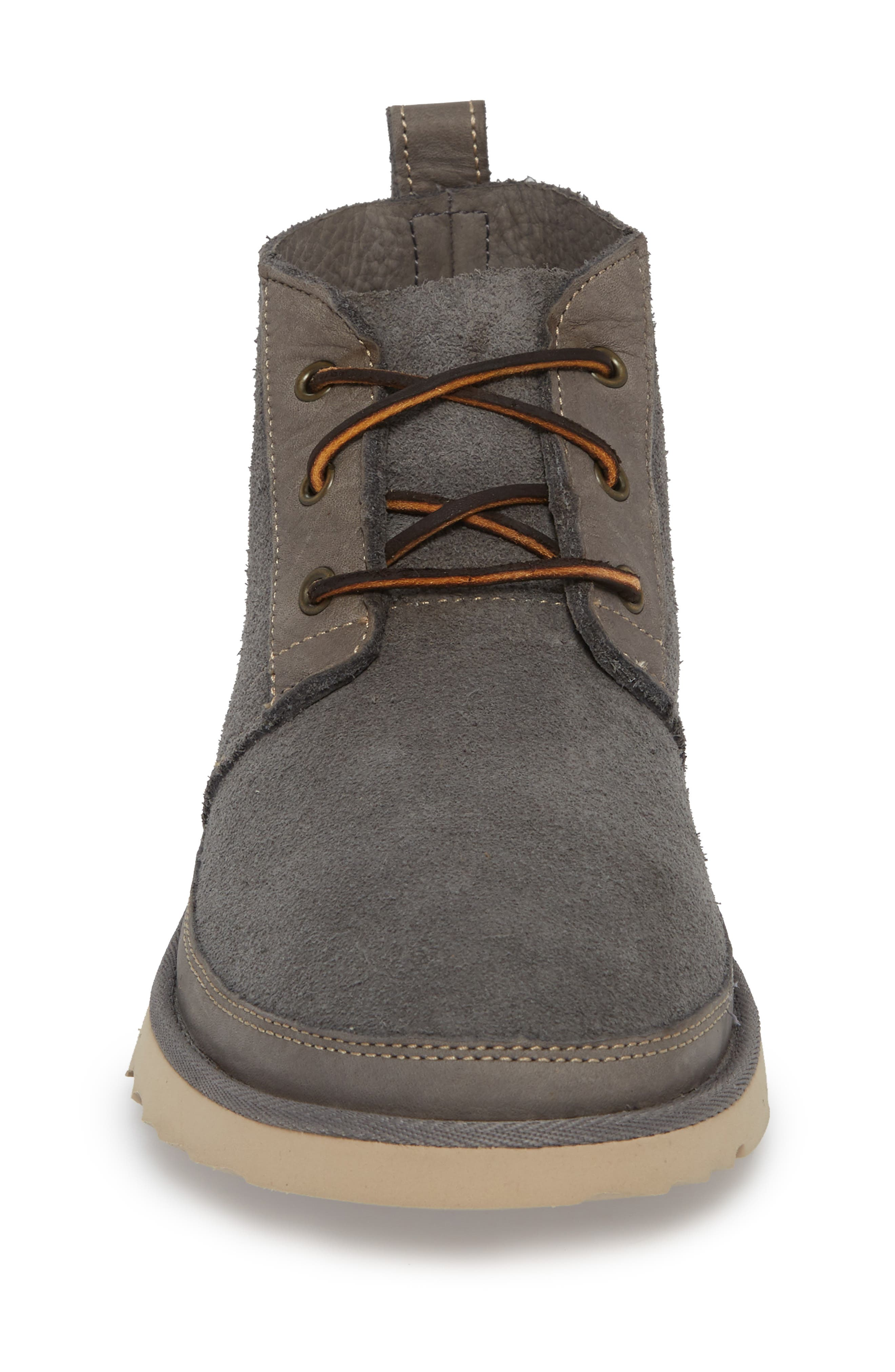 Neumel Unlined Chukka Boot,                             Alternate thumbnail 4, color,                             CHARCOAL LEATHER