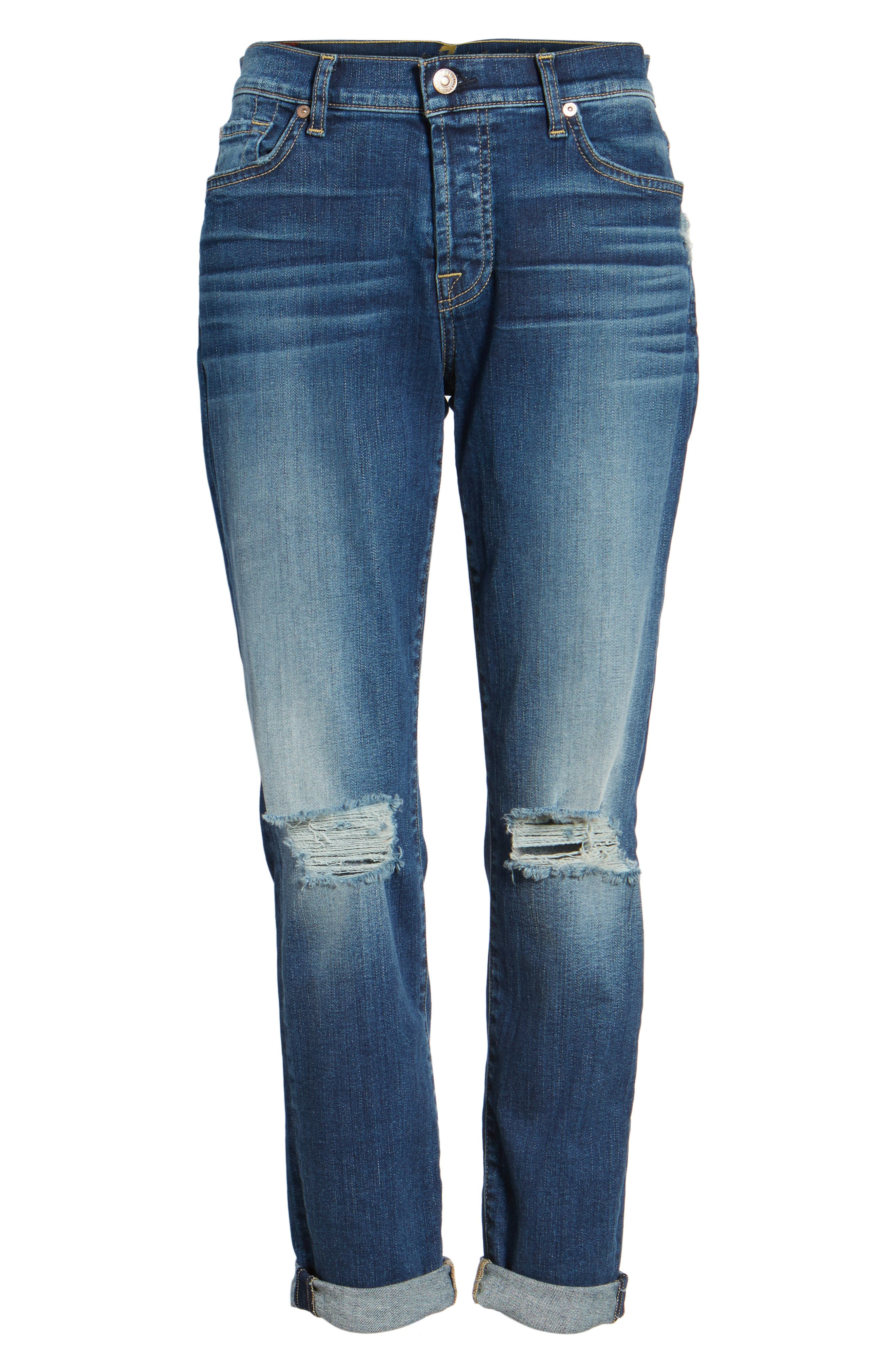Josefina Destroyed Boyfriend Jeans,                             Alternate thumbnail 6, color,                             400