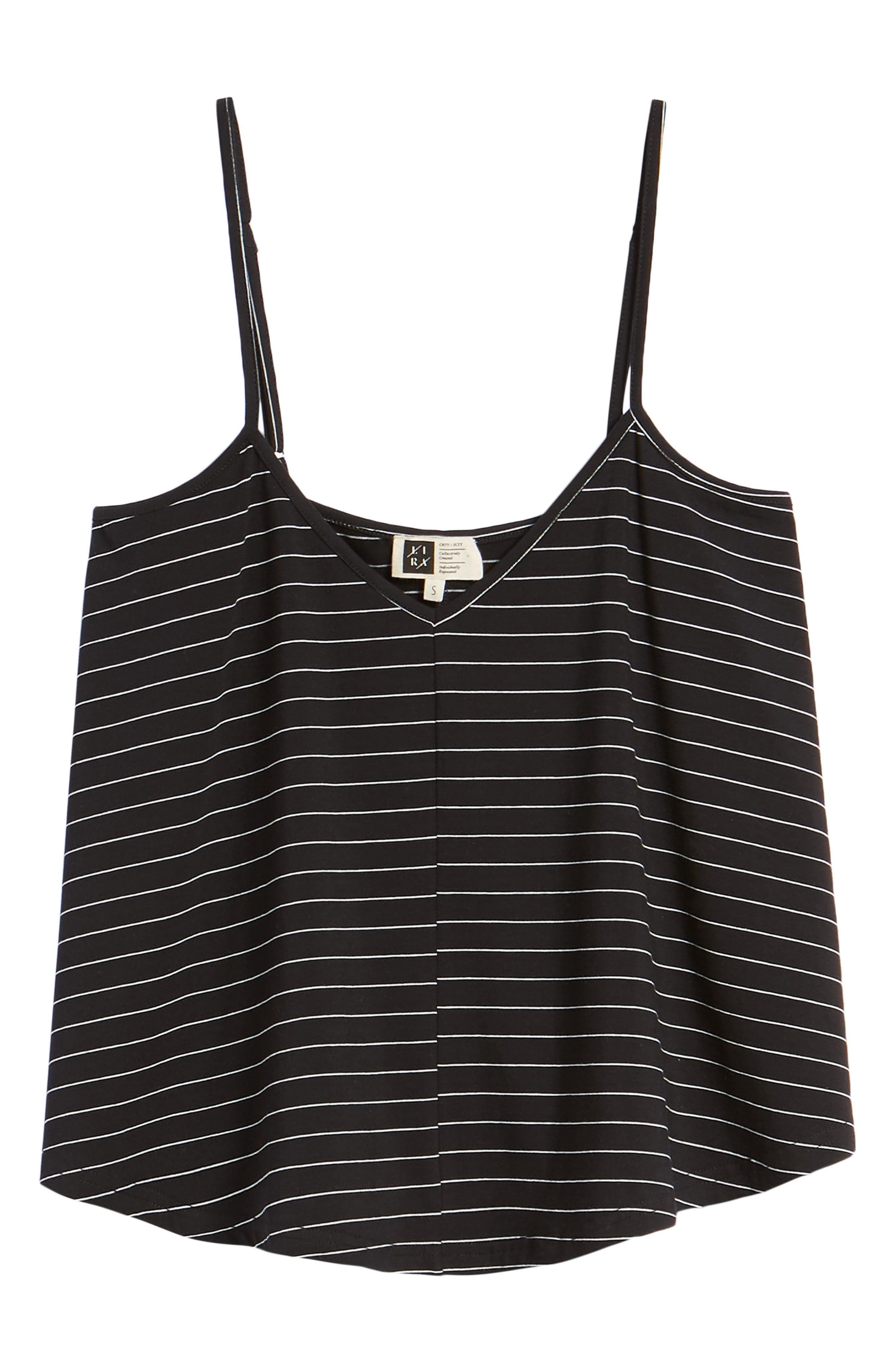 Harlow Stripe Camisole Top,                             Alternate thumbnail 7, color,                             001