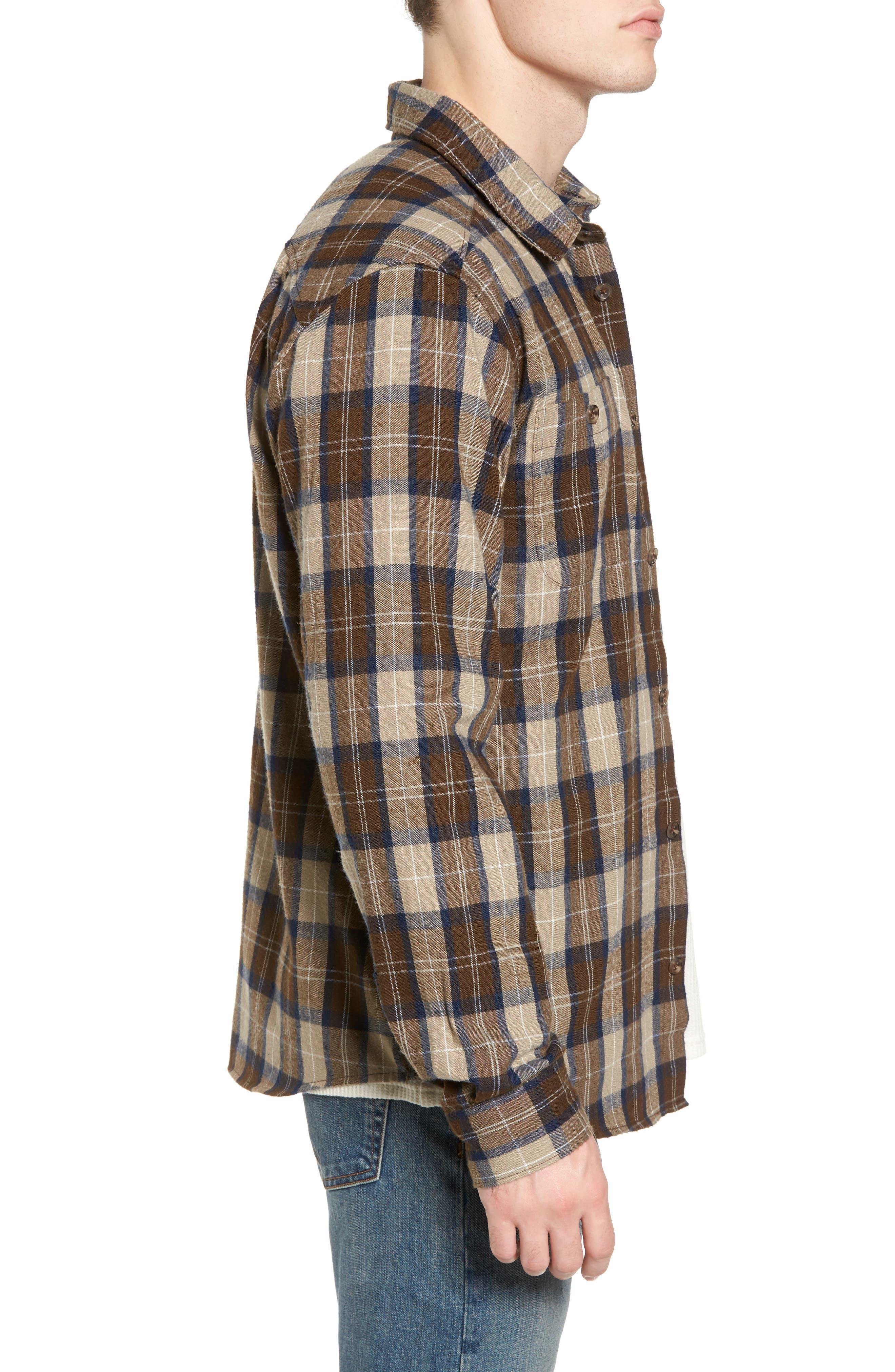 Bone Flannel Shirt,                             Alternate thumbnail 3, color,                             250