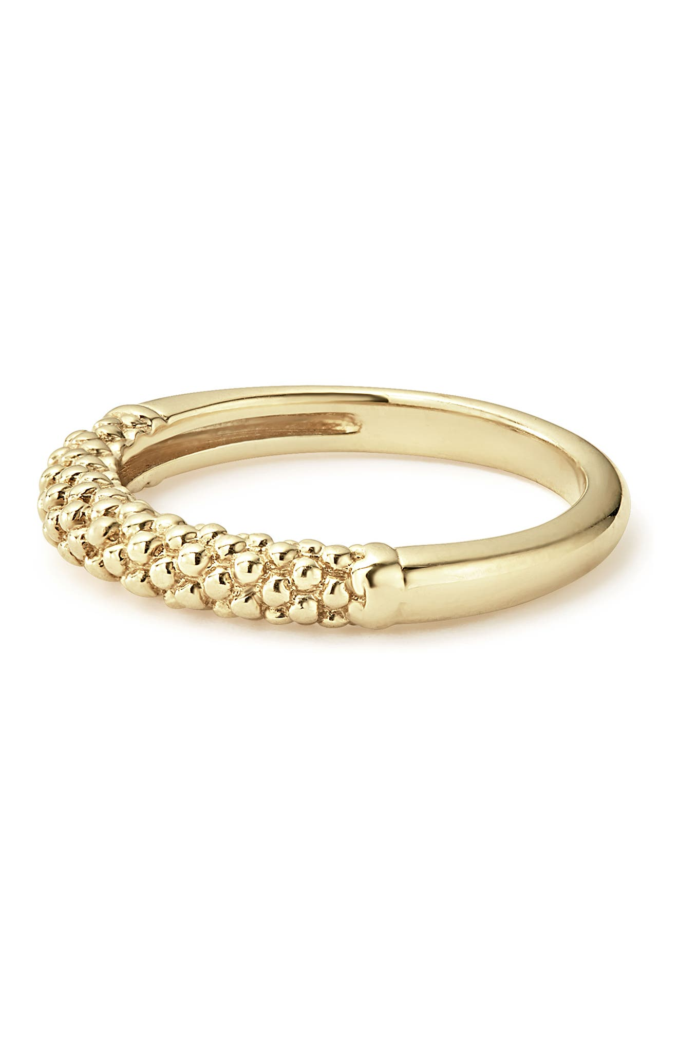 Caviar Band Ring,                             Alternate thumbnail 2, color,                             GOLD
