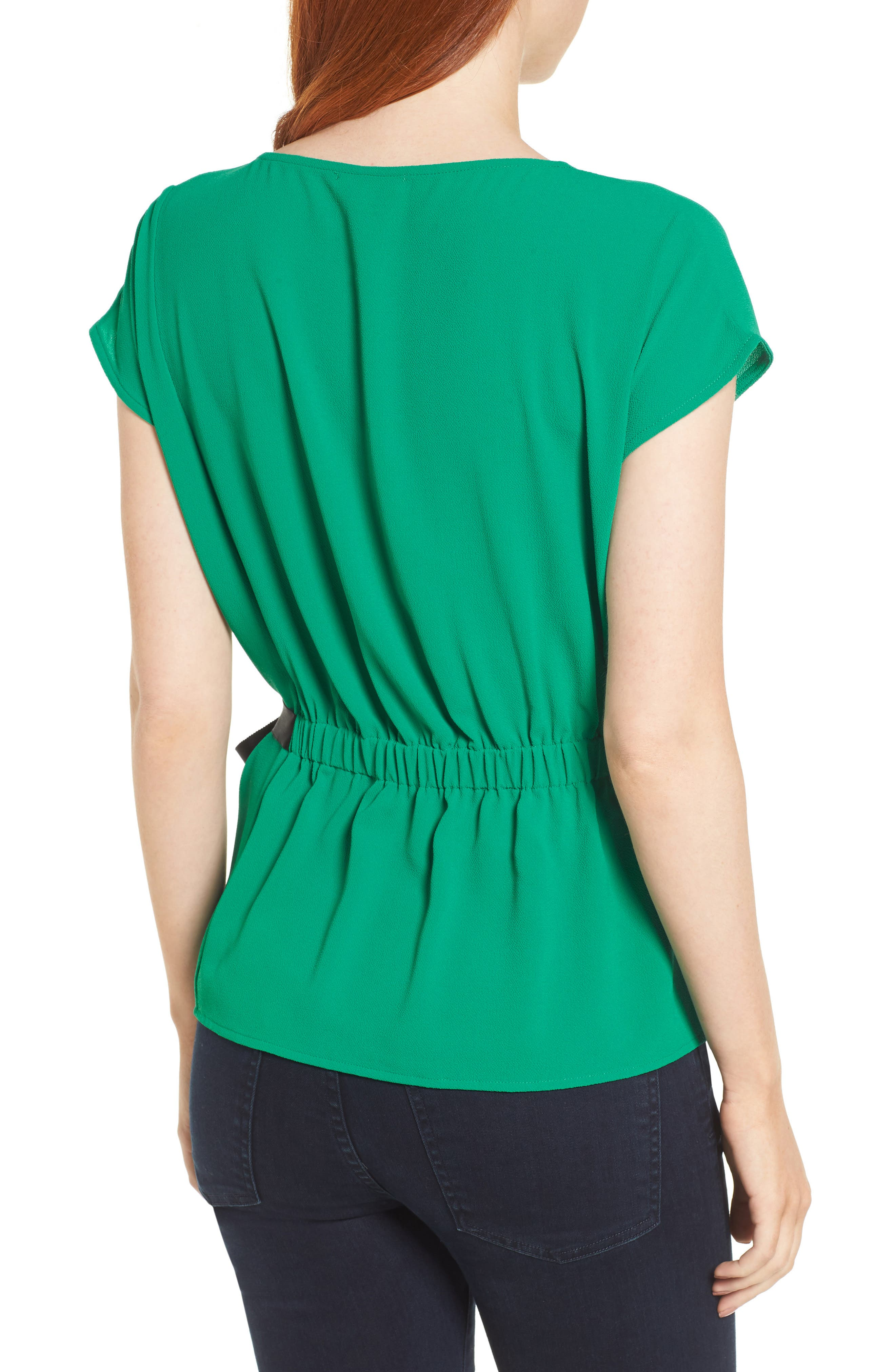 Gathered Waist Side Tie Top,                             Alternate thumbnail 8, color,