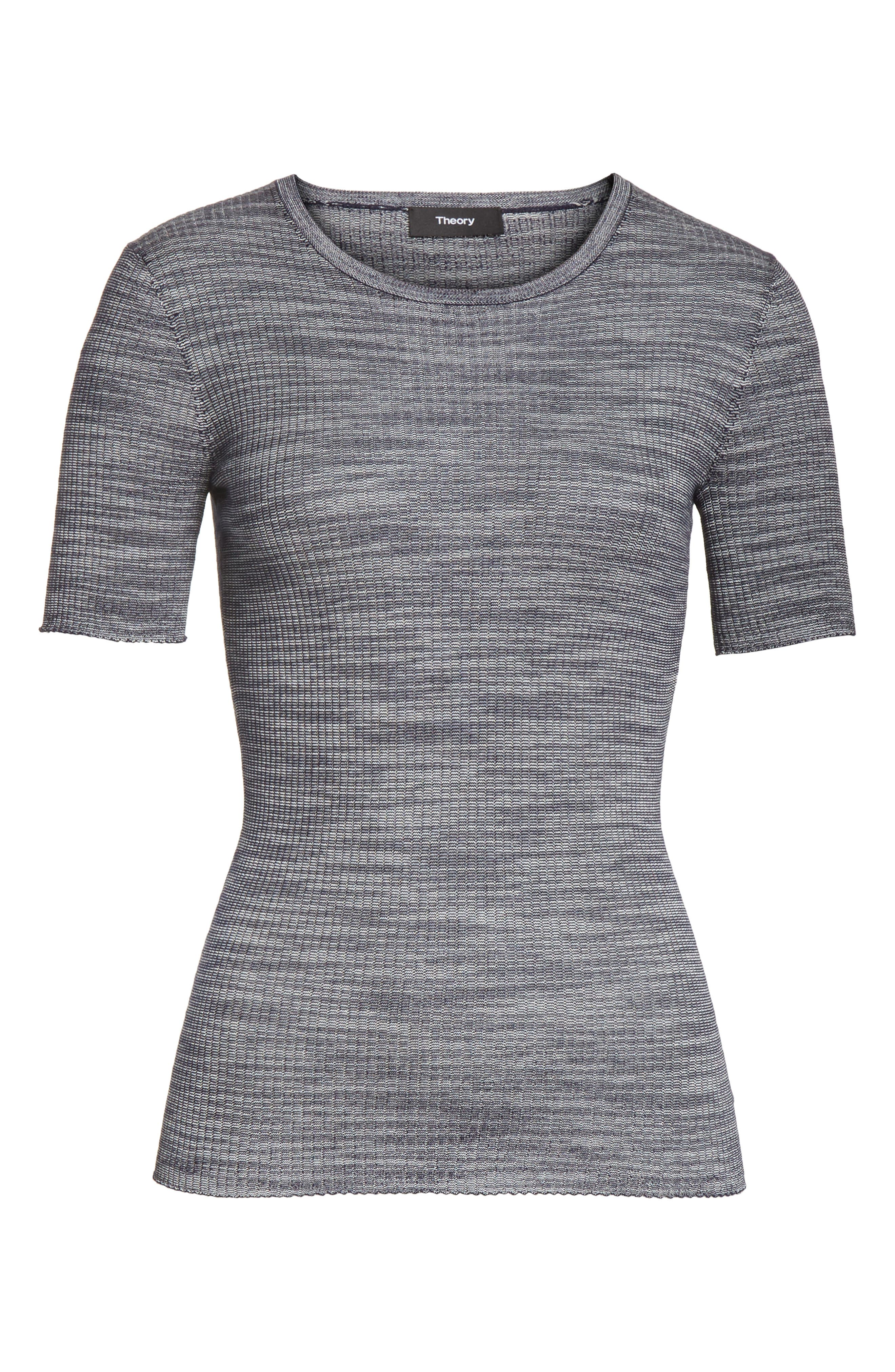 Fitted Merino Wool Blend Sweater,                             Alternate thumbnail 12, color,