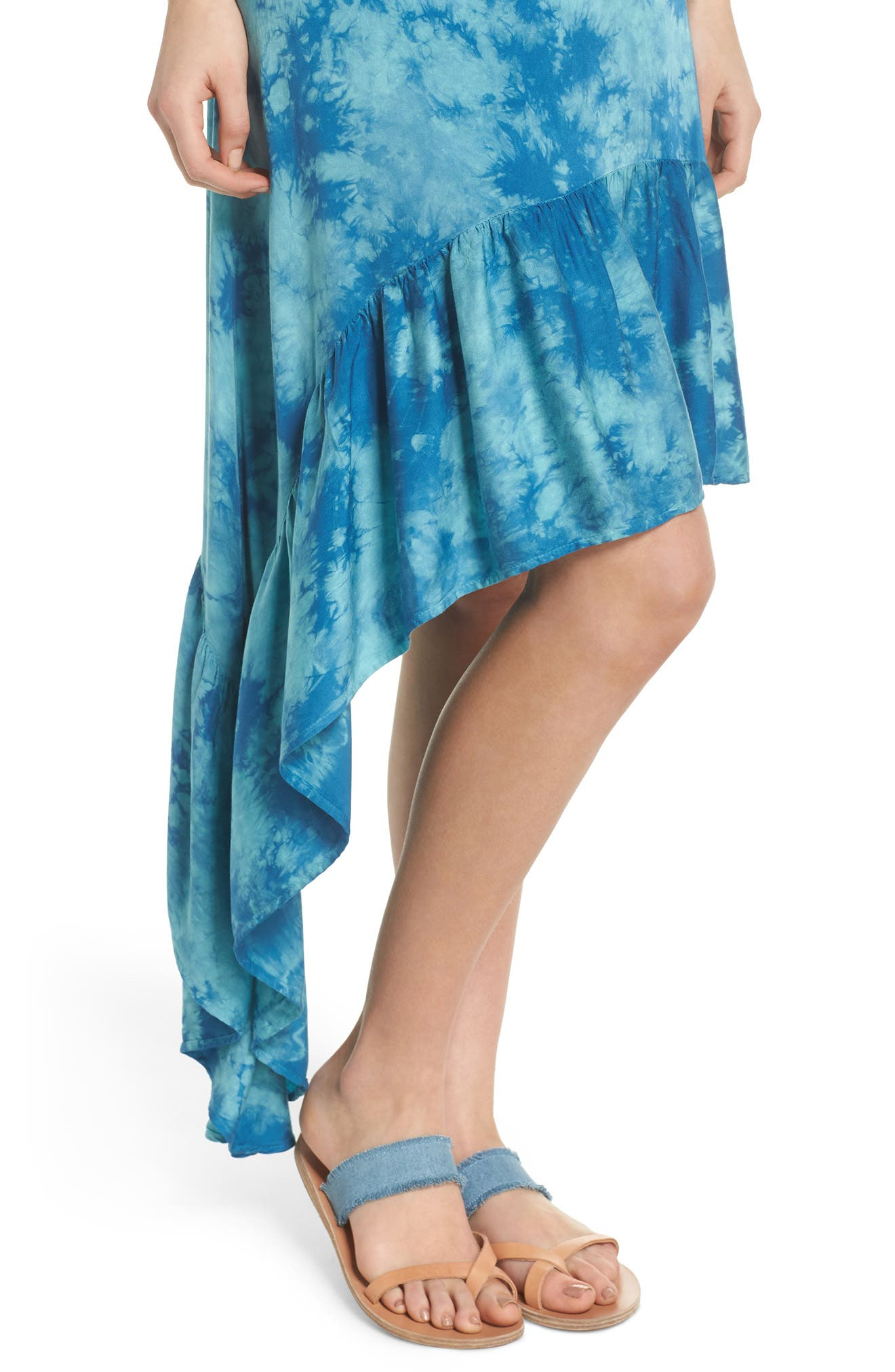 Crystal Forest Clementine Cover-Up Dress,                             Alternate thumbnail 4, color,                             401