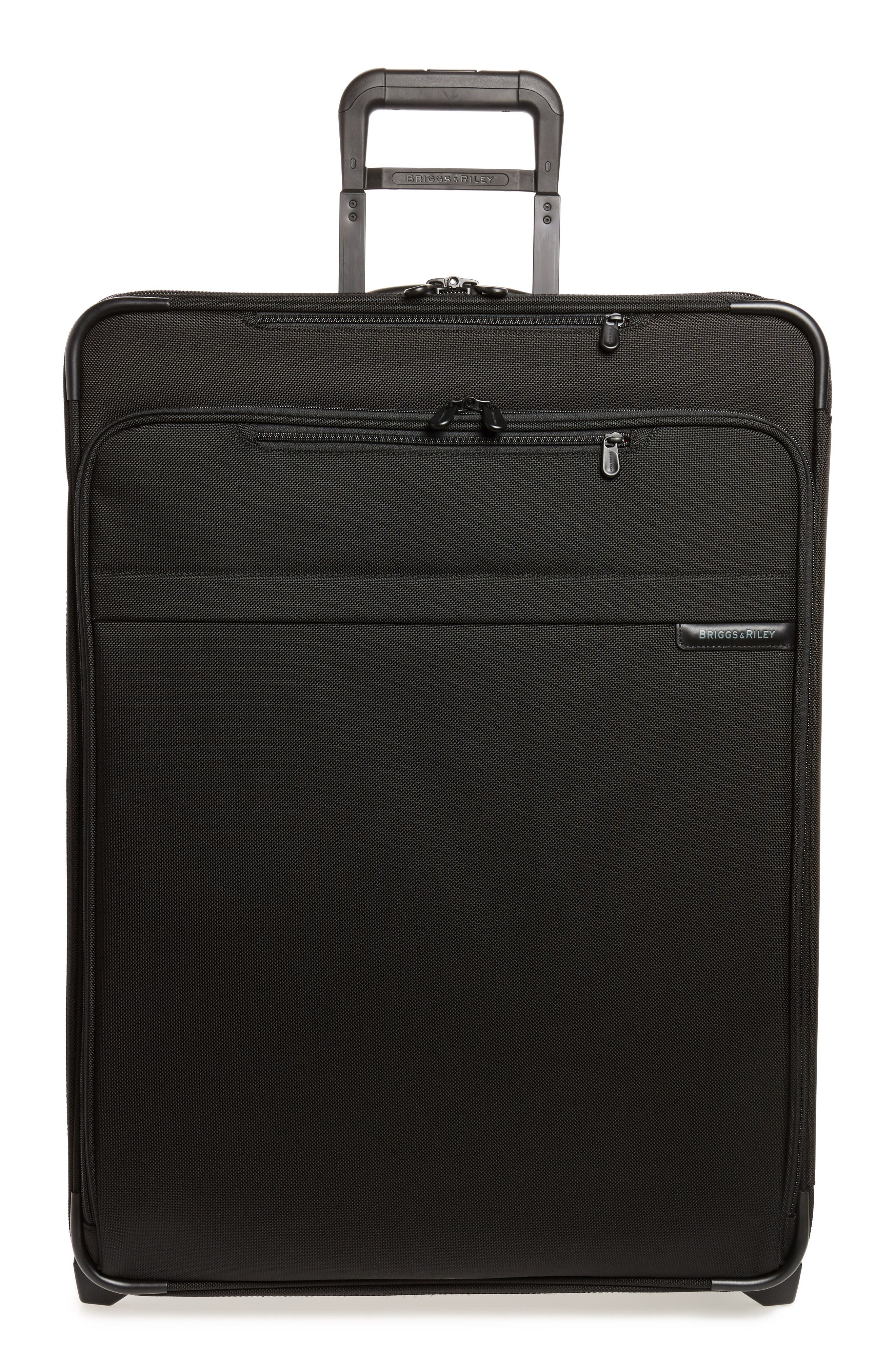 Large Baseline Expandable 28-Inch Rolling Packing Case,                         Main,                         color, BLACK