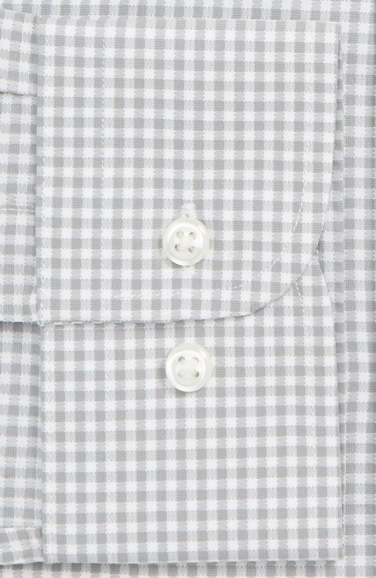 Tech-Smart Traditional Fit Check Stretch Dress Shirt,                             Alternate thumbnail 2, color,                             GREY SLEET