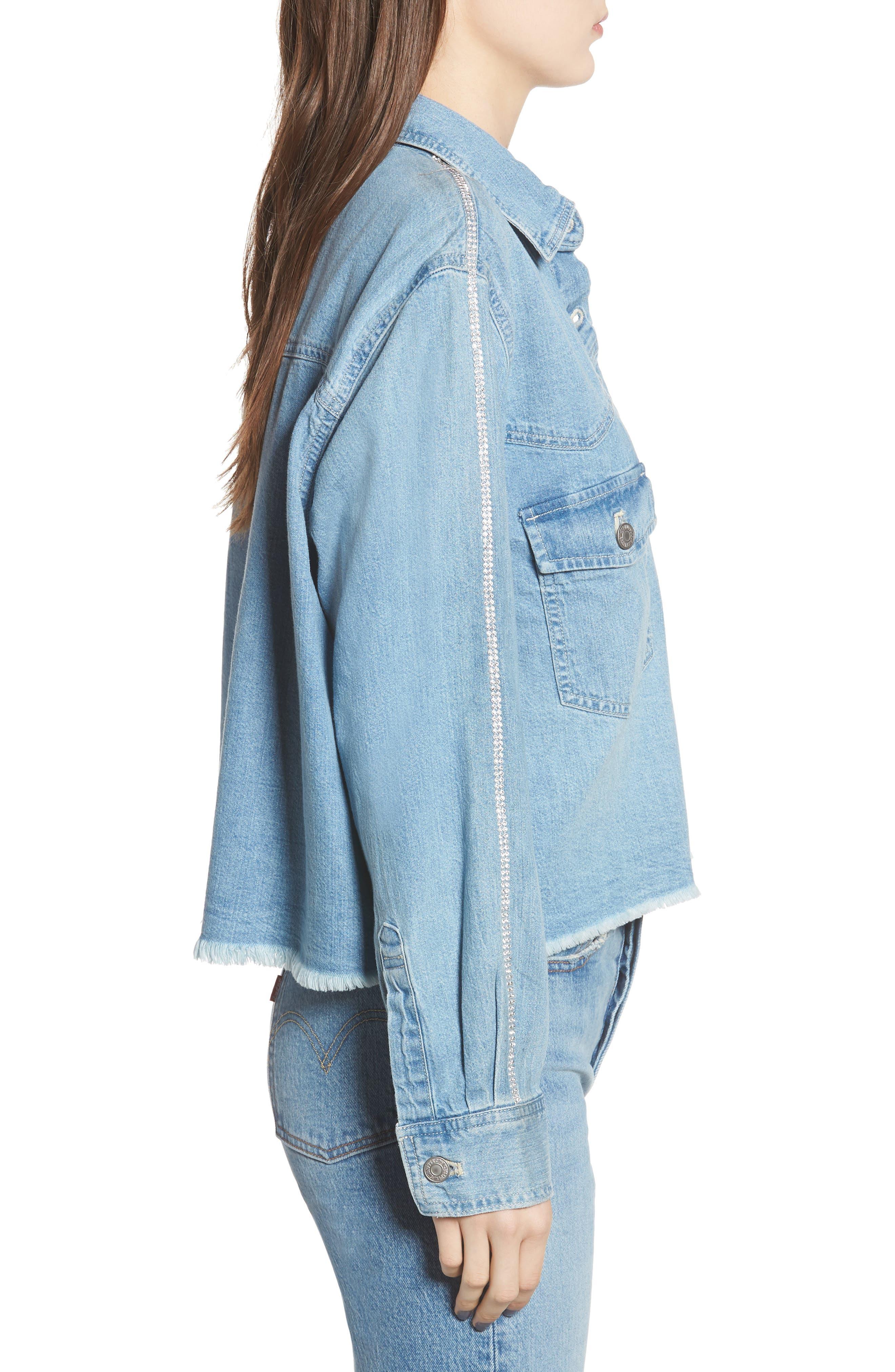 LEVI'S<SUP>®</SUP>,                             Addison Crop Denim Shirt,                             Alternate thumbnail 3, color,                             400