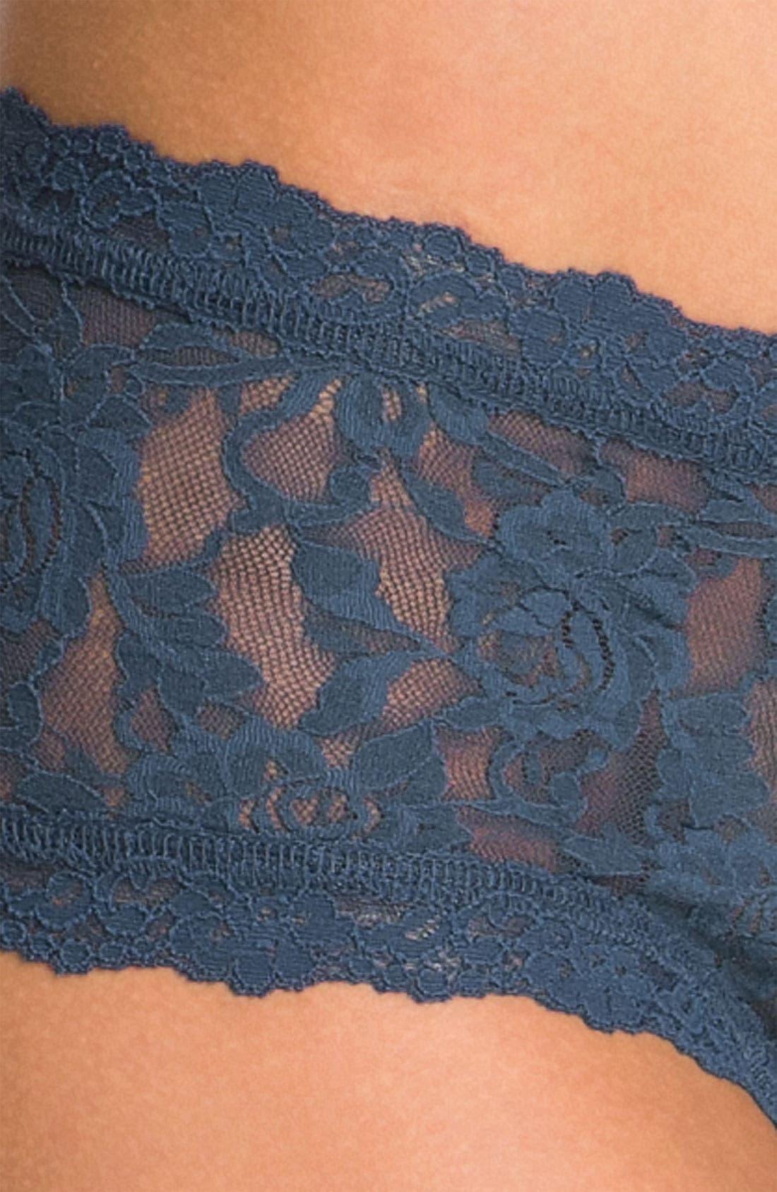 'Signature Lace' Boyshorts,                             Alternate thumbnail 399, color,