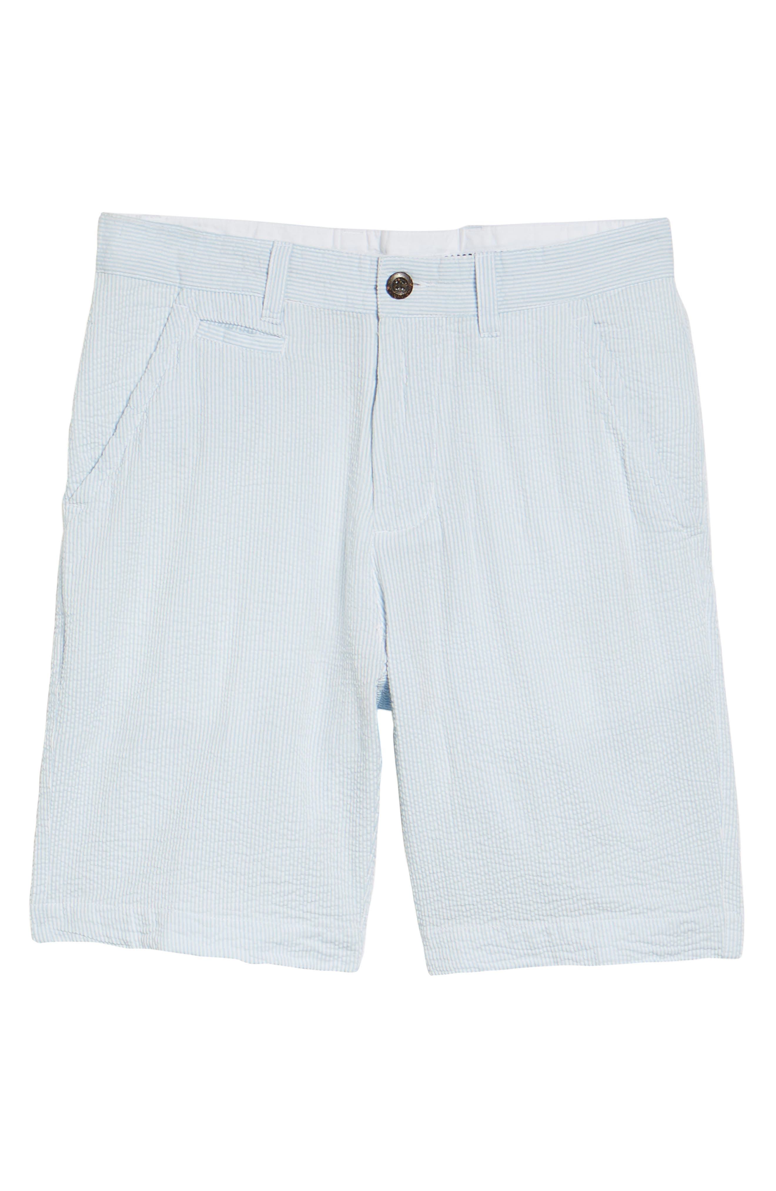 Vintage Wash Seersucker Shorts,                             Alternate thumbnail 6, color,                             450