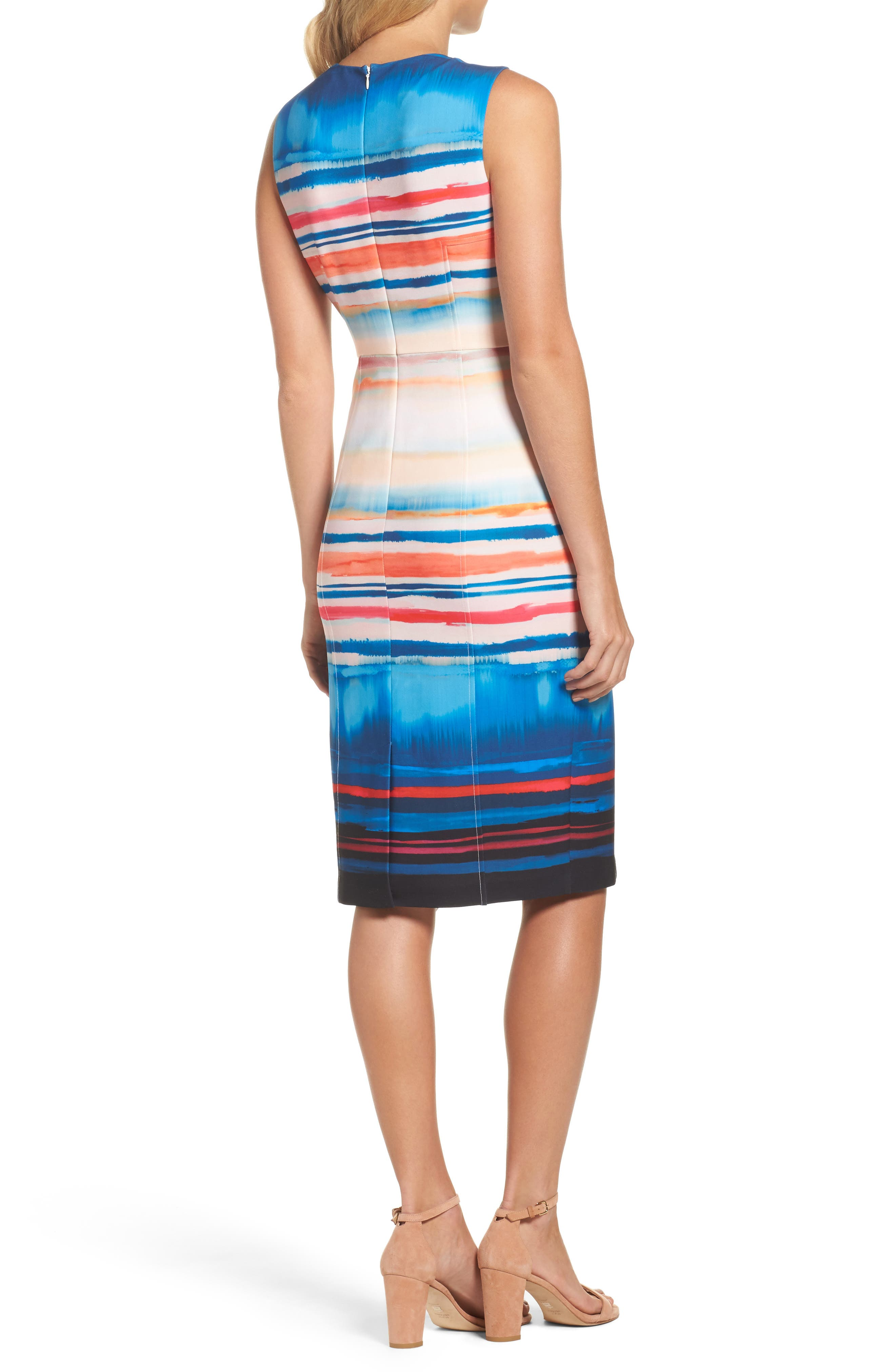Scuba Sheath Dress,                             Alternate thumbnail 2, color,                             001