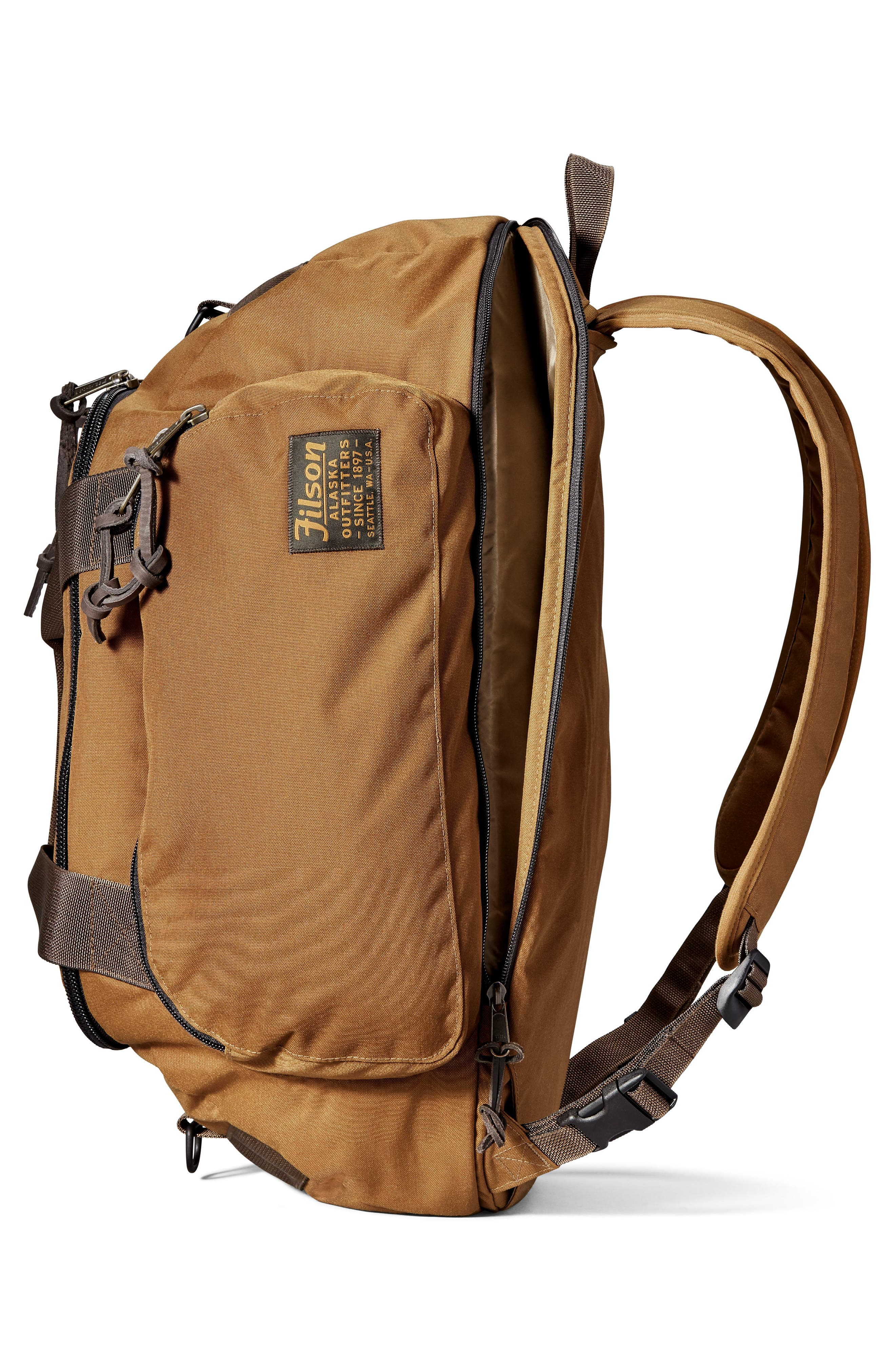 Convertible Duffel Bag,                             Alternate thumbnail 4, color,                             WHISKEY