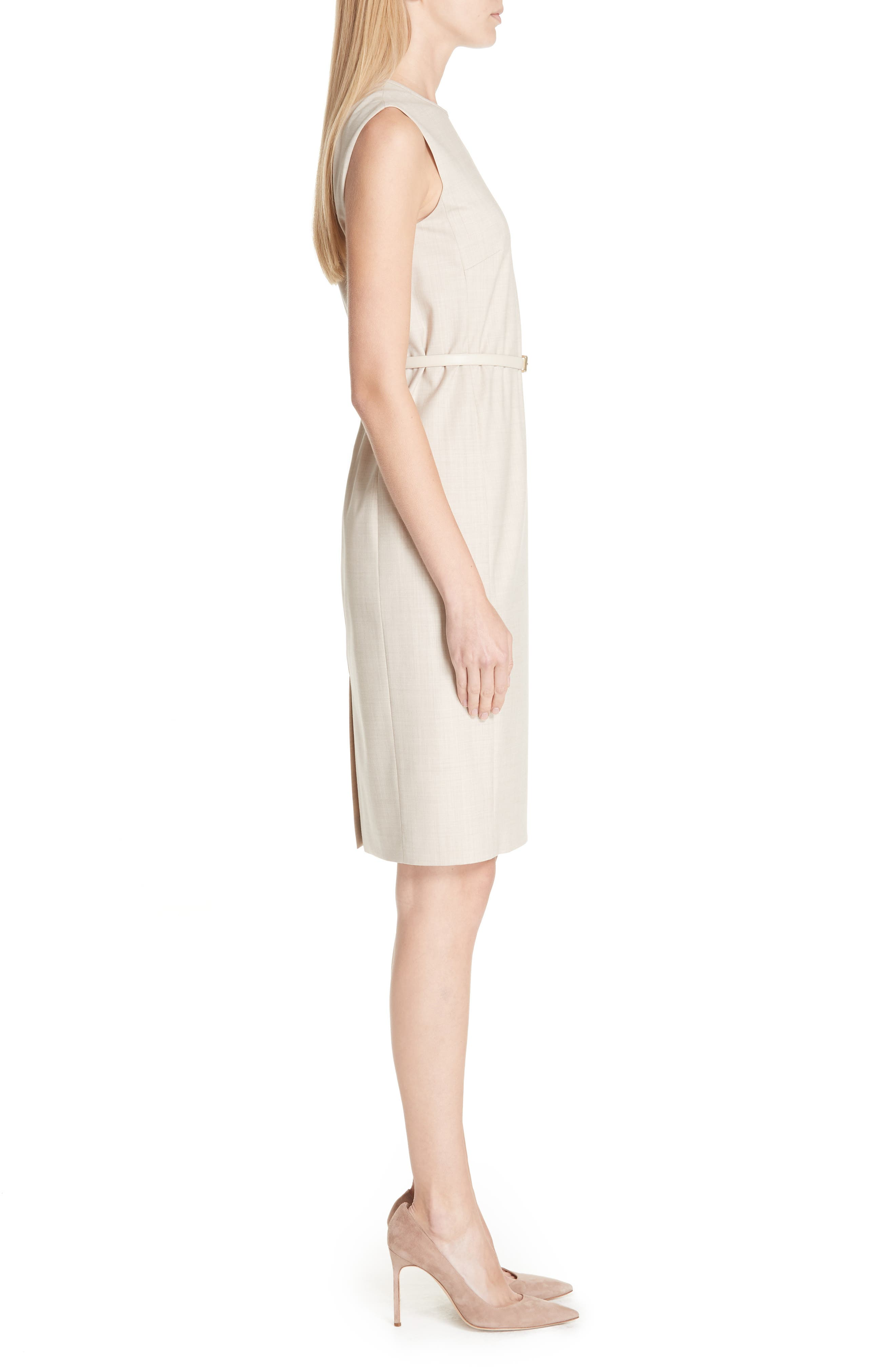 MAX MARA,                             Petra Stretch Wool Dress,                             Alternate thumbnail 3, color,                             264