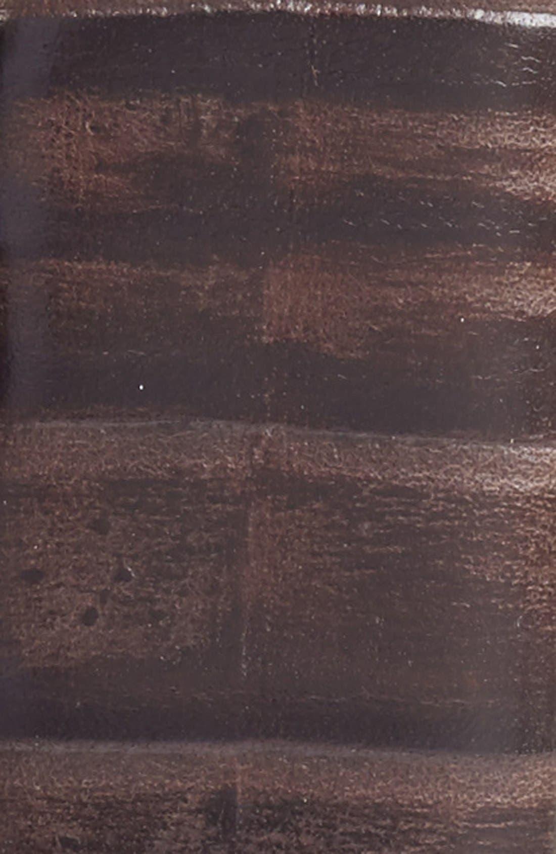 Ribbed Kipskin Leather Belt,                             Alternate thumbnail 2, color,                             BROWN