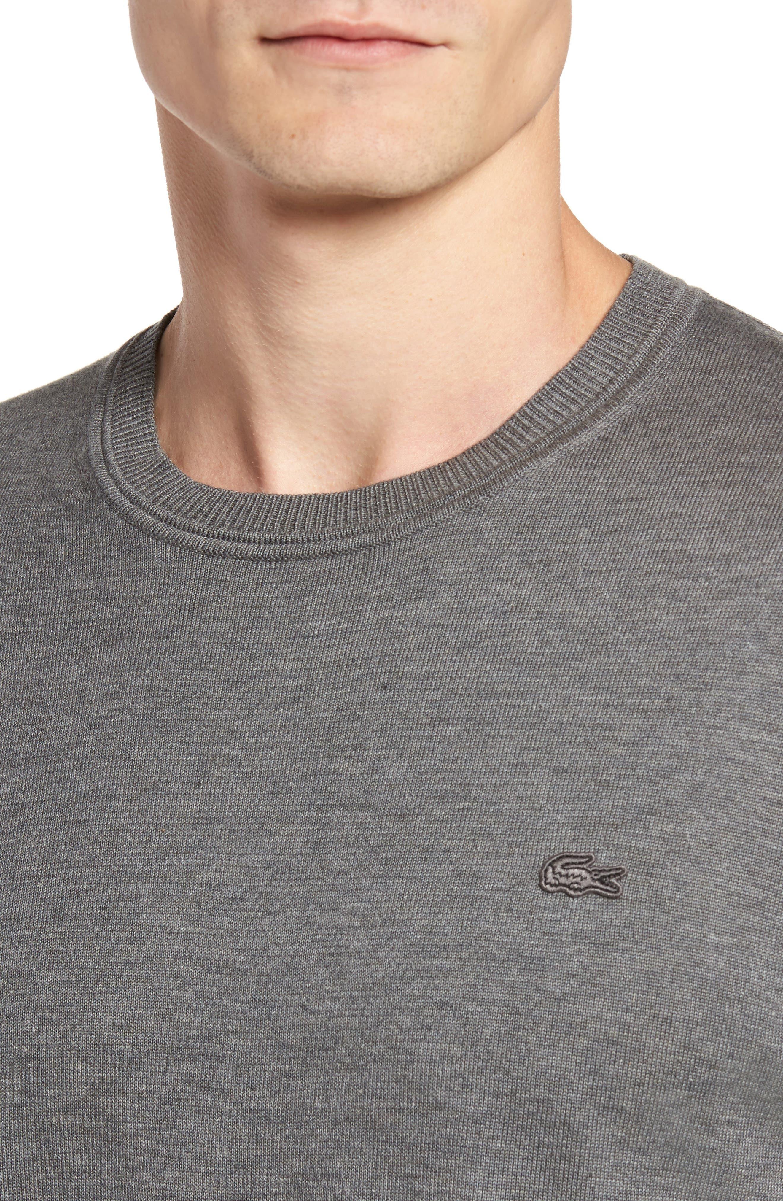 Jersey Knit Crewneck Sweater,                             Alternate thumbnail 4, color,                             032