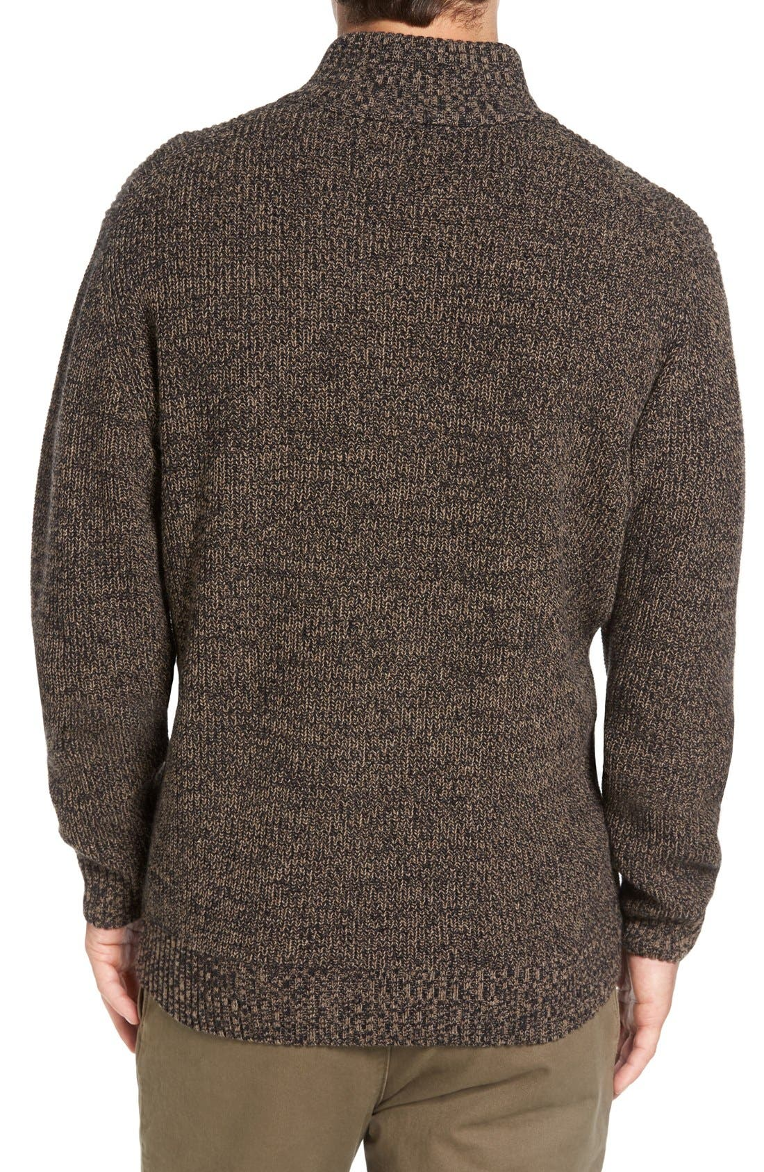 'Woodglen' Herringbone Knit Lambswool Quarter Zip Sweater,                             Alternate thumbnail 2, color,                             200