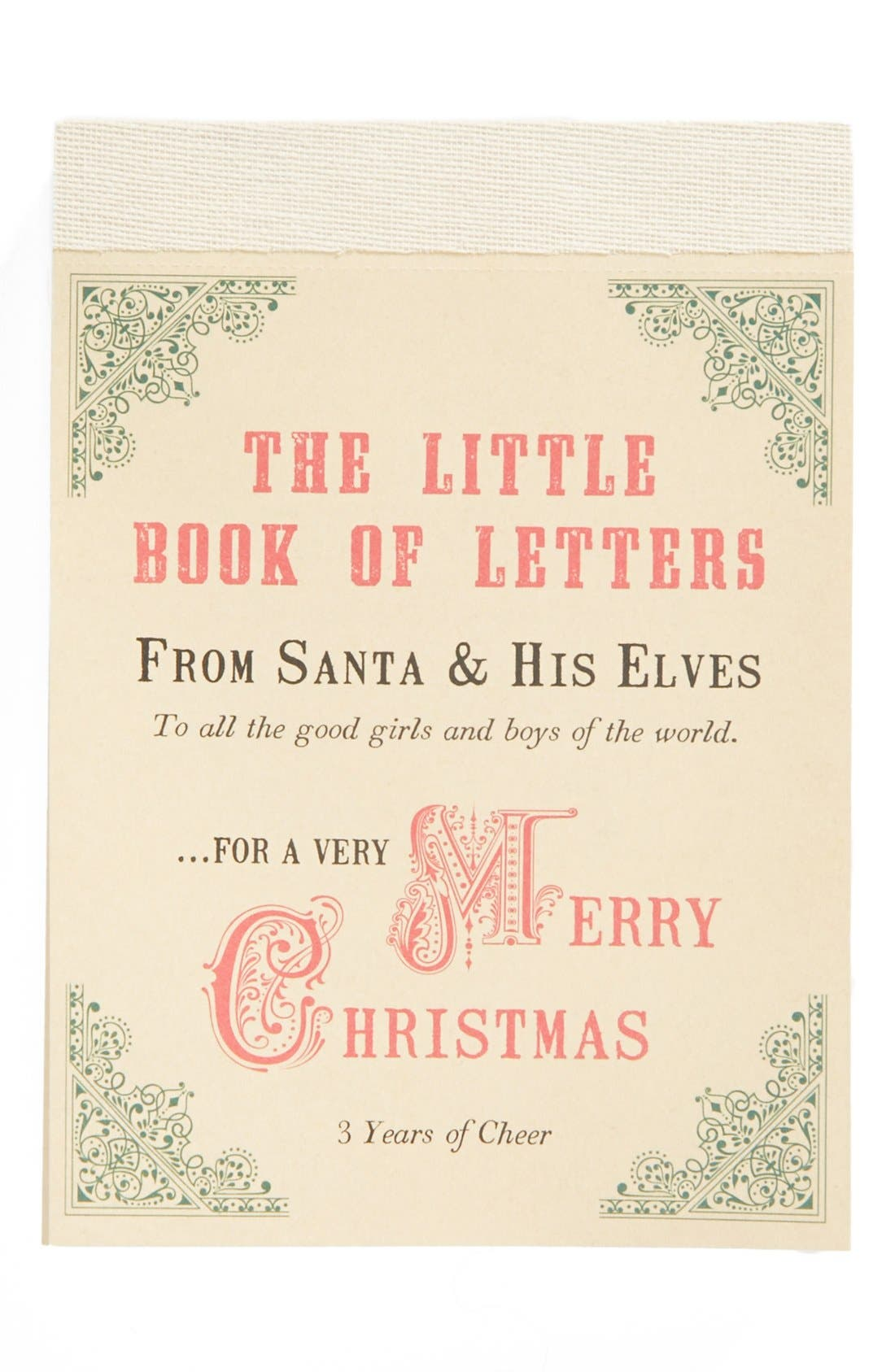 Sugarpoo Designs 'Little Book of Letters From Santa & His Elves' Notepad, Main, color, 600