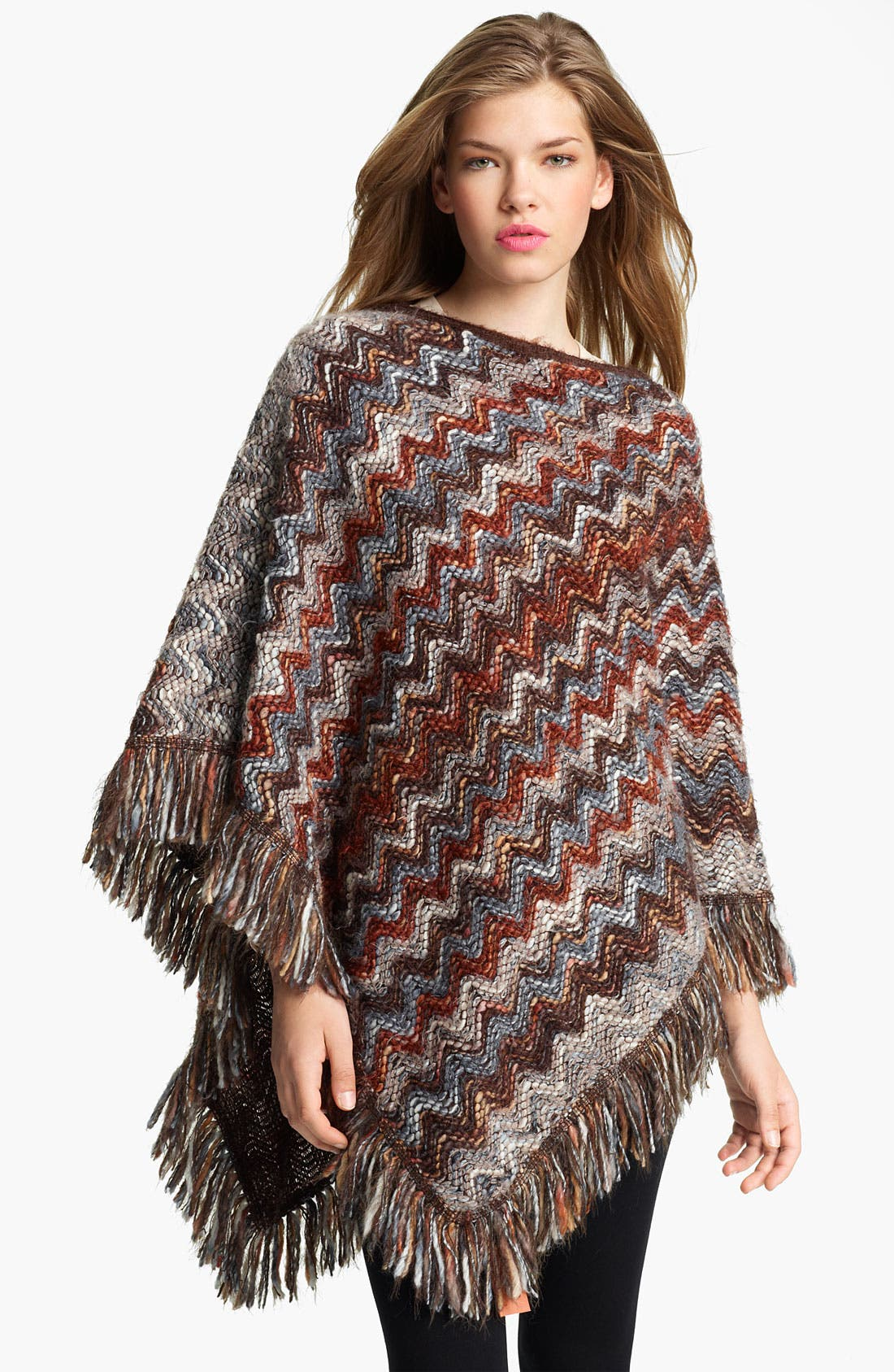 MISSONI 'Chunky' Wool Blend Poncho, Main, color, 200