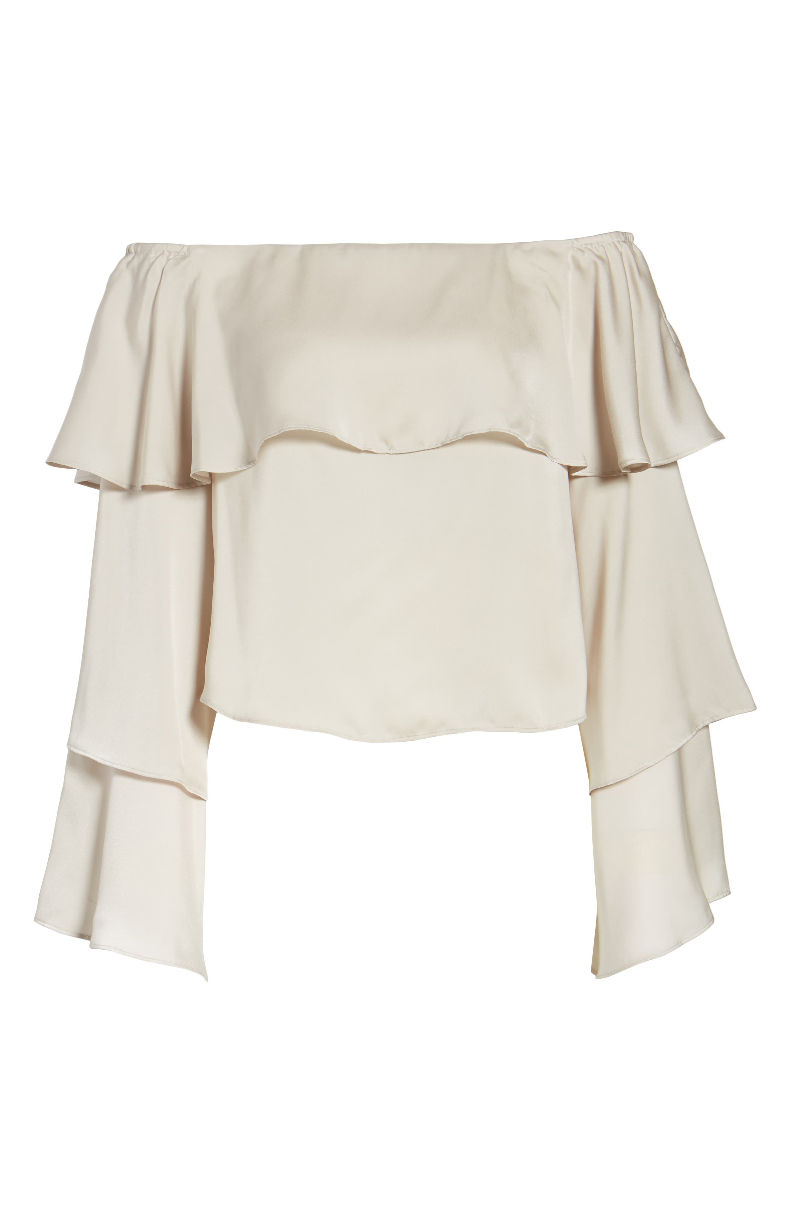 Off the Shoulder Ruffle Top,                             Alternate thumbnail 6, color,                             050