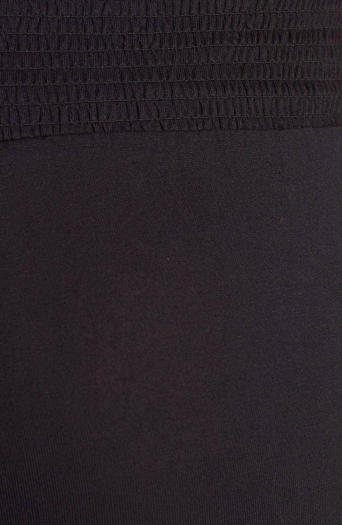 Lace Trim Maternity Lounge Pants,                             Alternate thumbnail 3, color,                             001