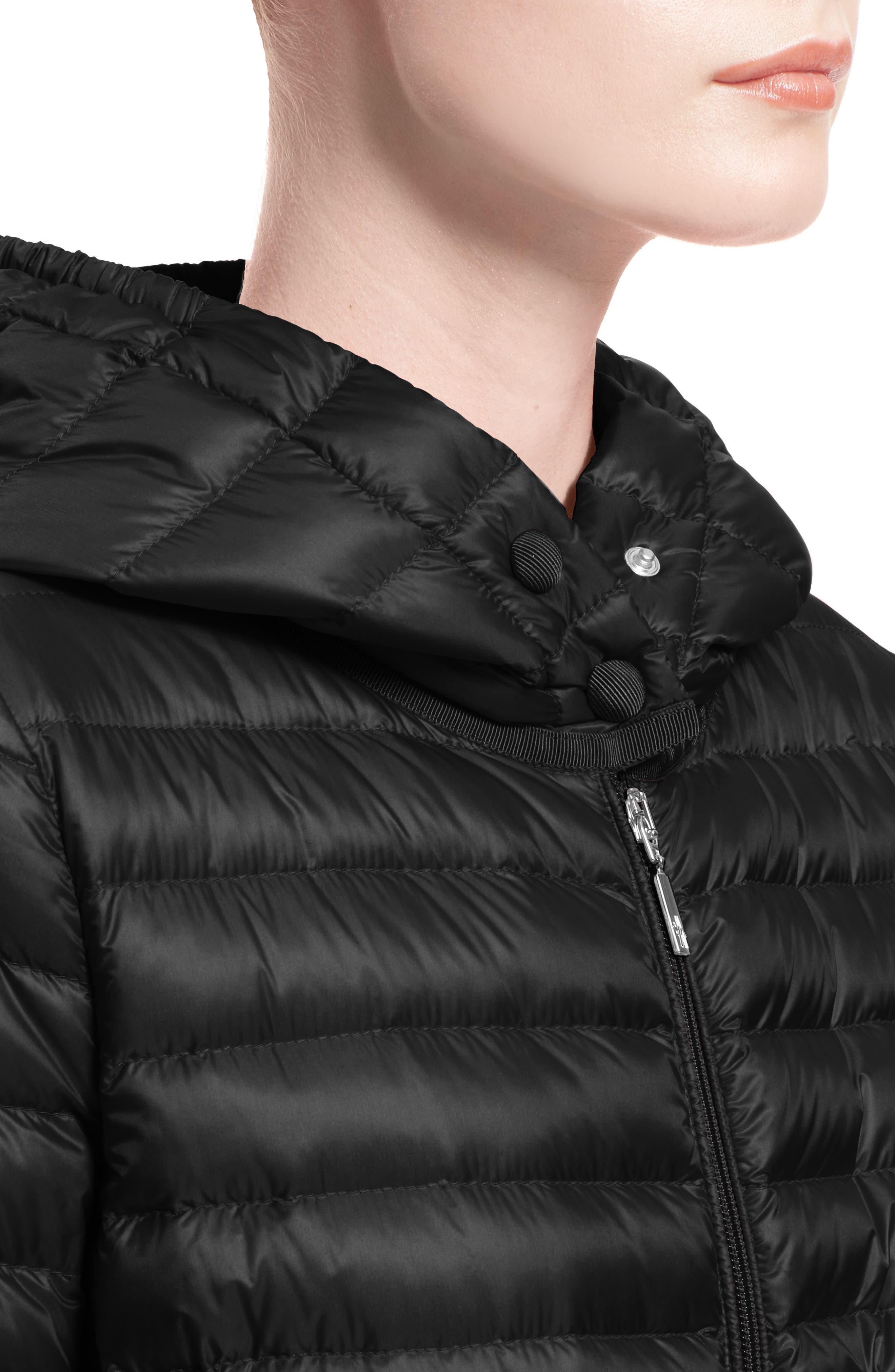 Barbel Water Resistant Long Hooded Down Jacket,                             Alternate thumbnail 6, color,                             001