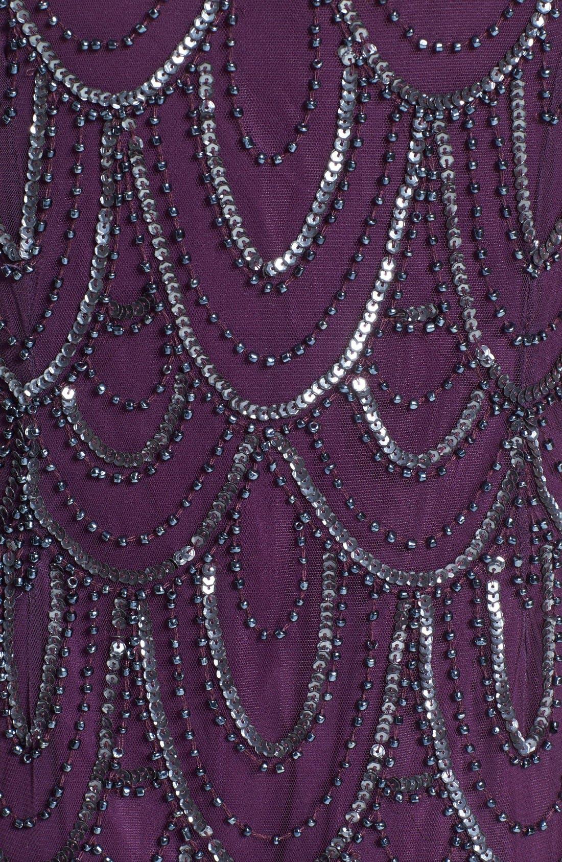 Embellished Mesh Sheath Dress,                             Alternate thumbnail 107, color,