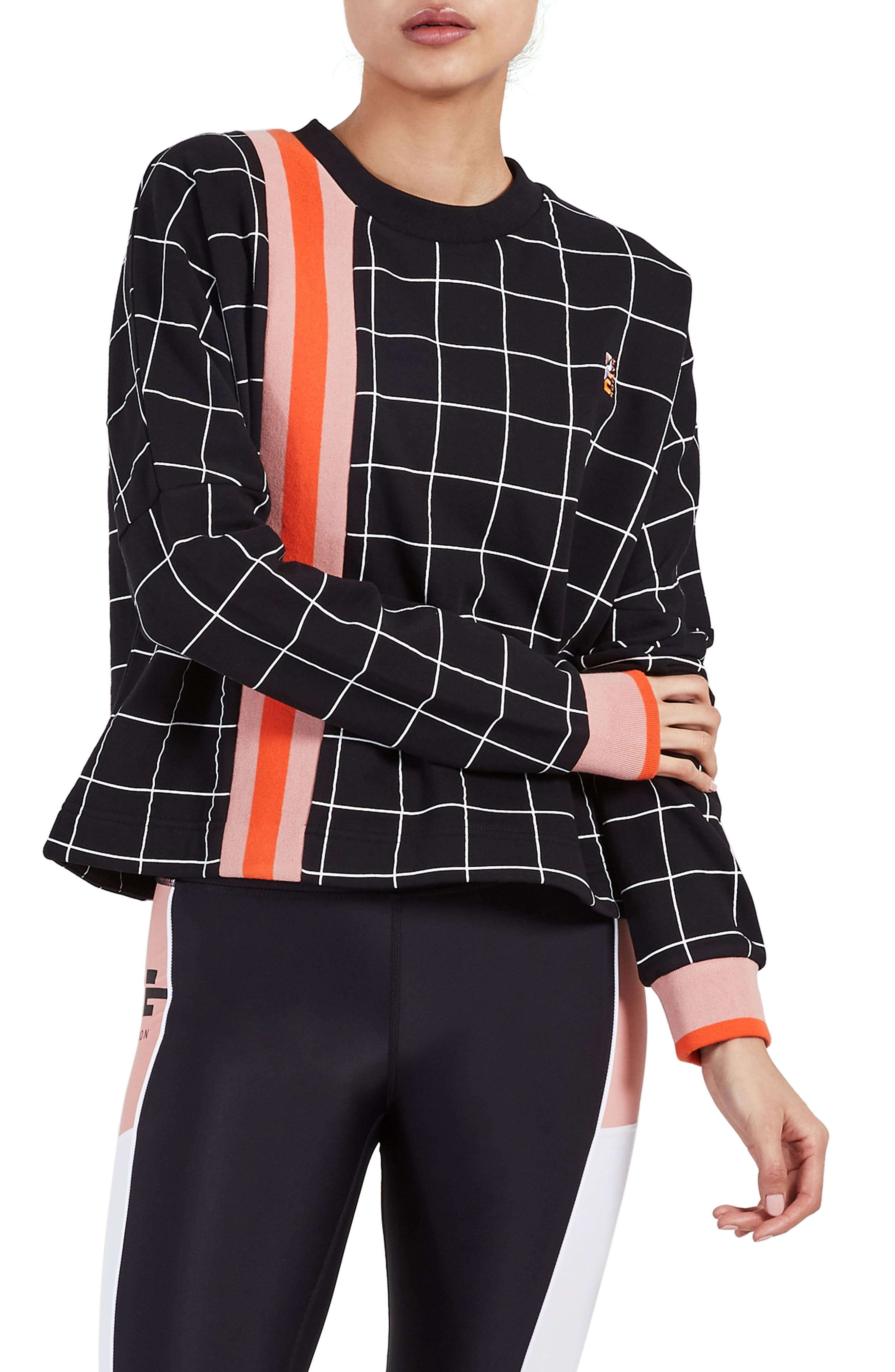 The Mogul Sweatshirt,                         Main,                         color, BLACK PRINT