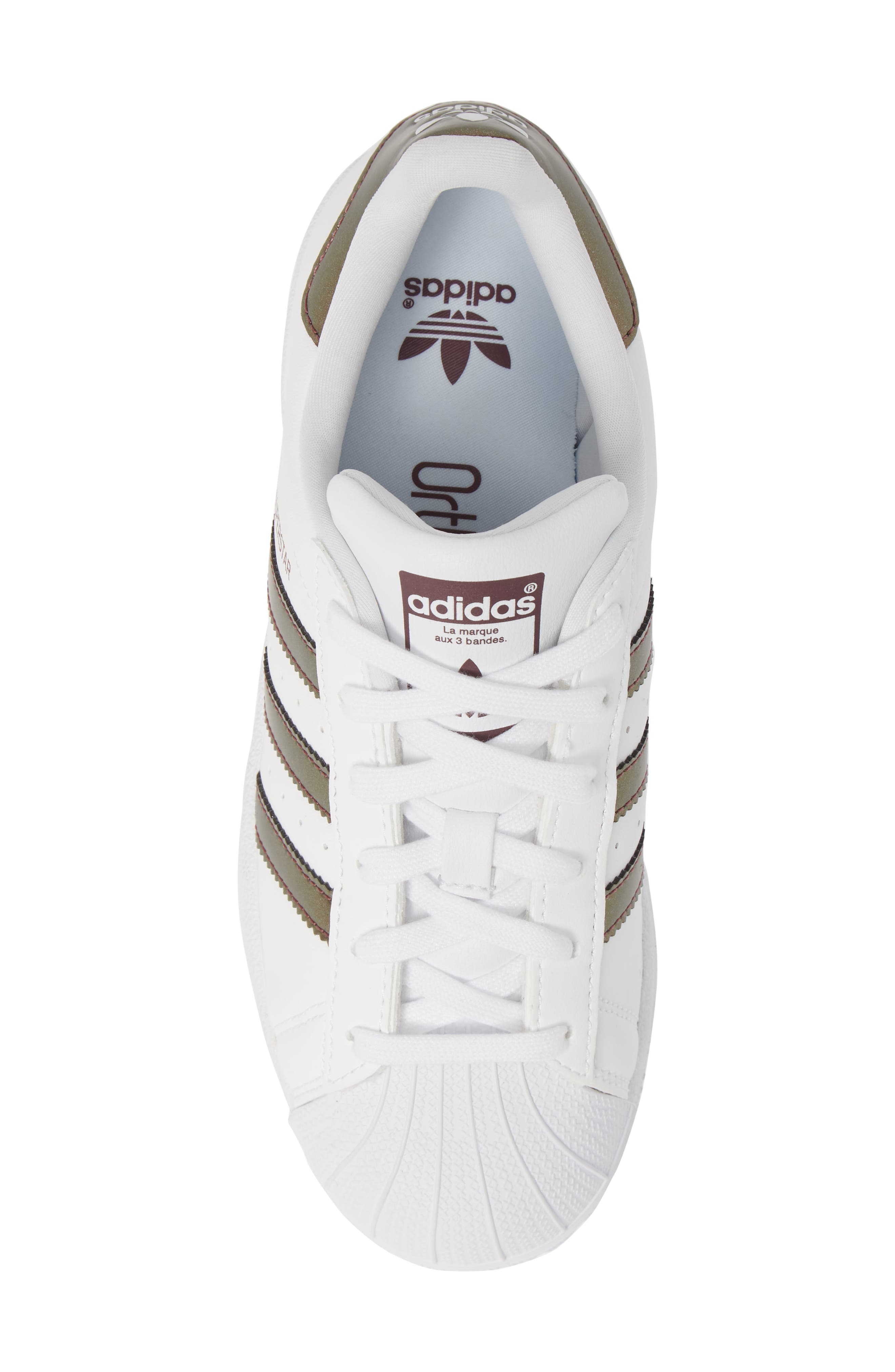 'Superstar II' Sneaker,                             Alternate thumbnail 5, color,                             FOOTWEAR WHITE/COPPER