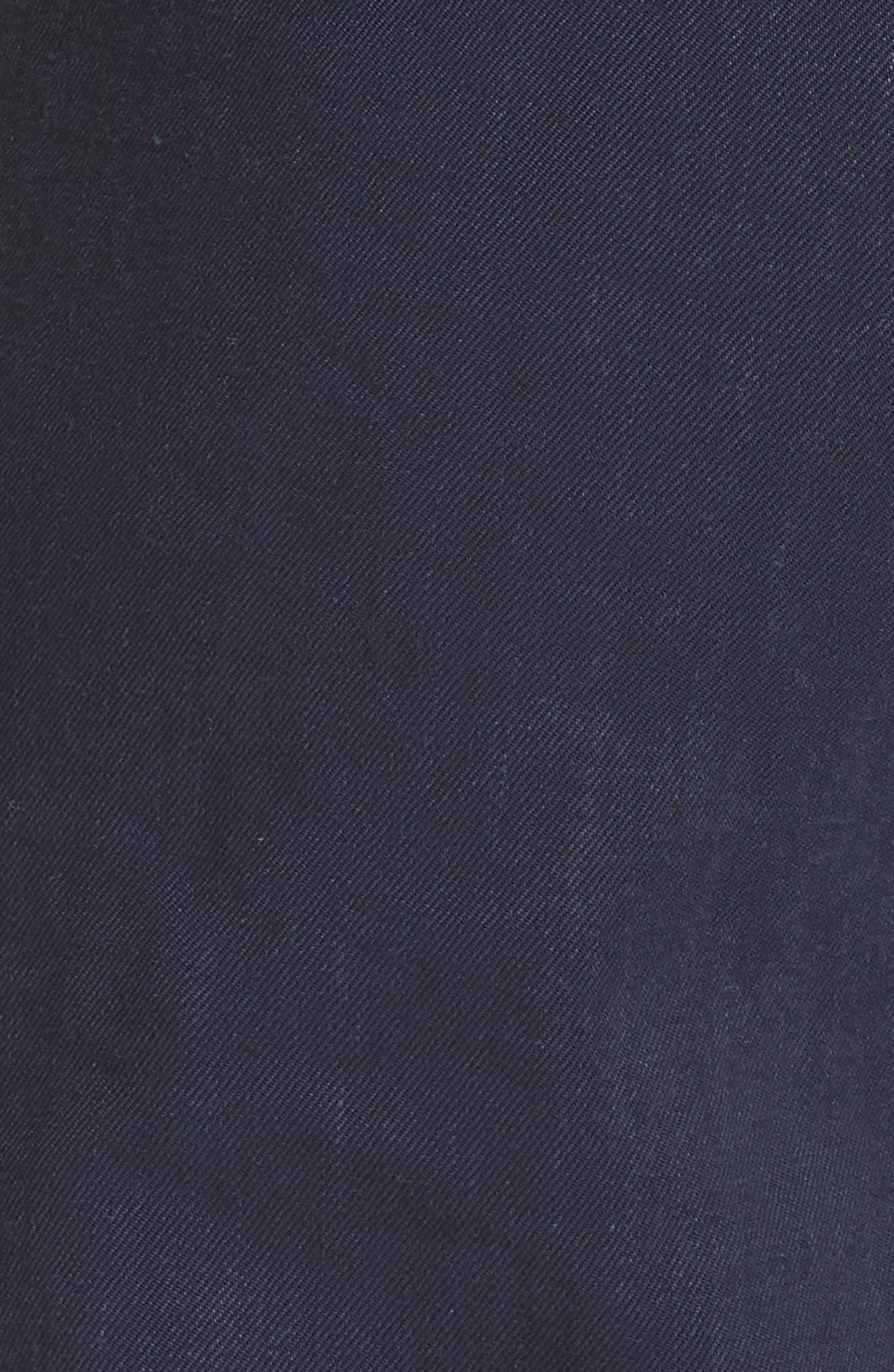 Diane von Furstenberg Pleat Front Flare Stretch Linen Blend Pants,                             Alternate thumbnail 5, color,                             485