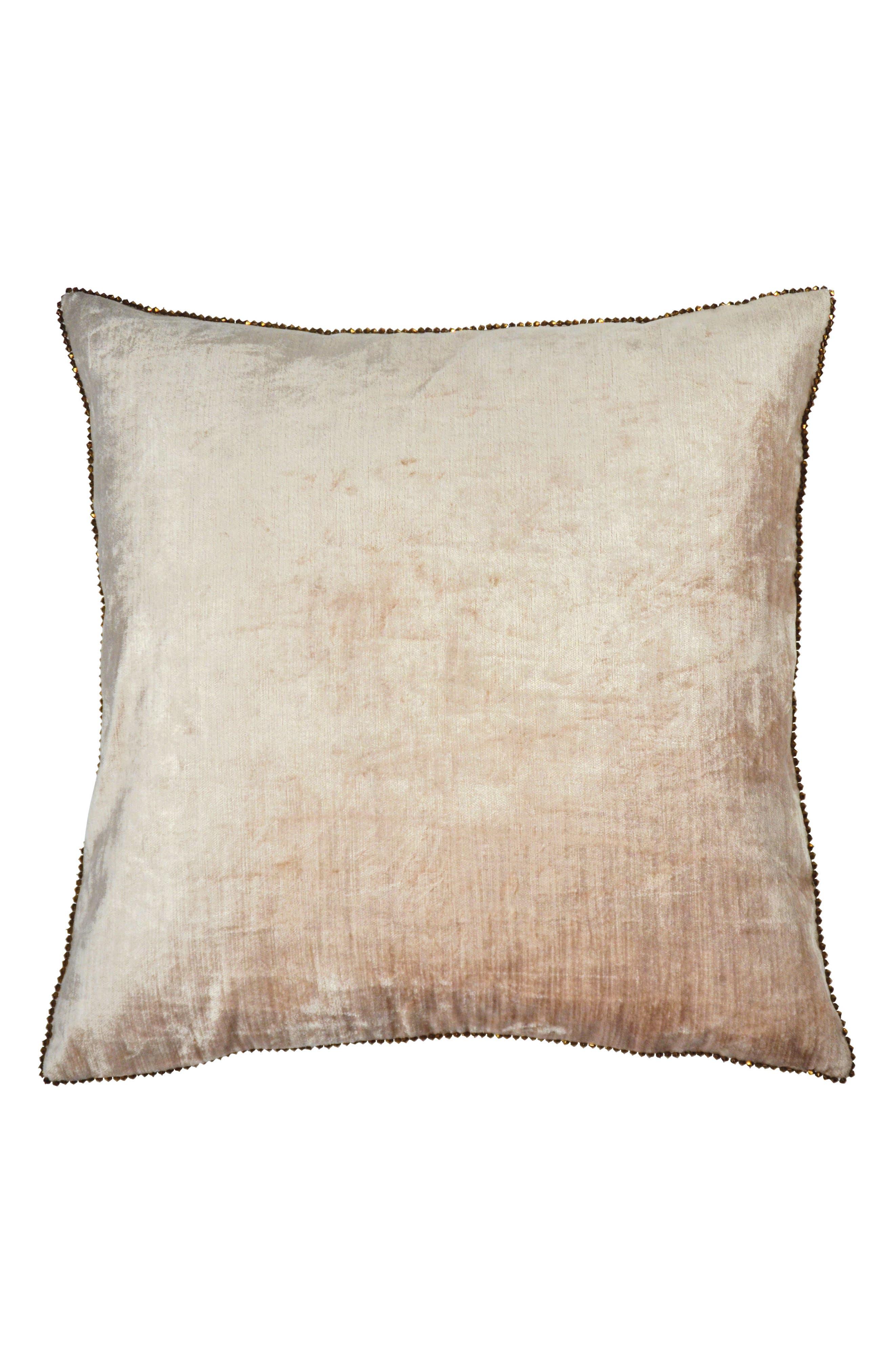 Velvet Accent Pillow,                             Main thumbnail 1, color,                             BLUSH