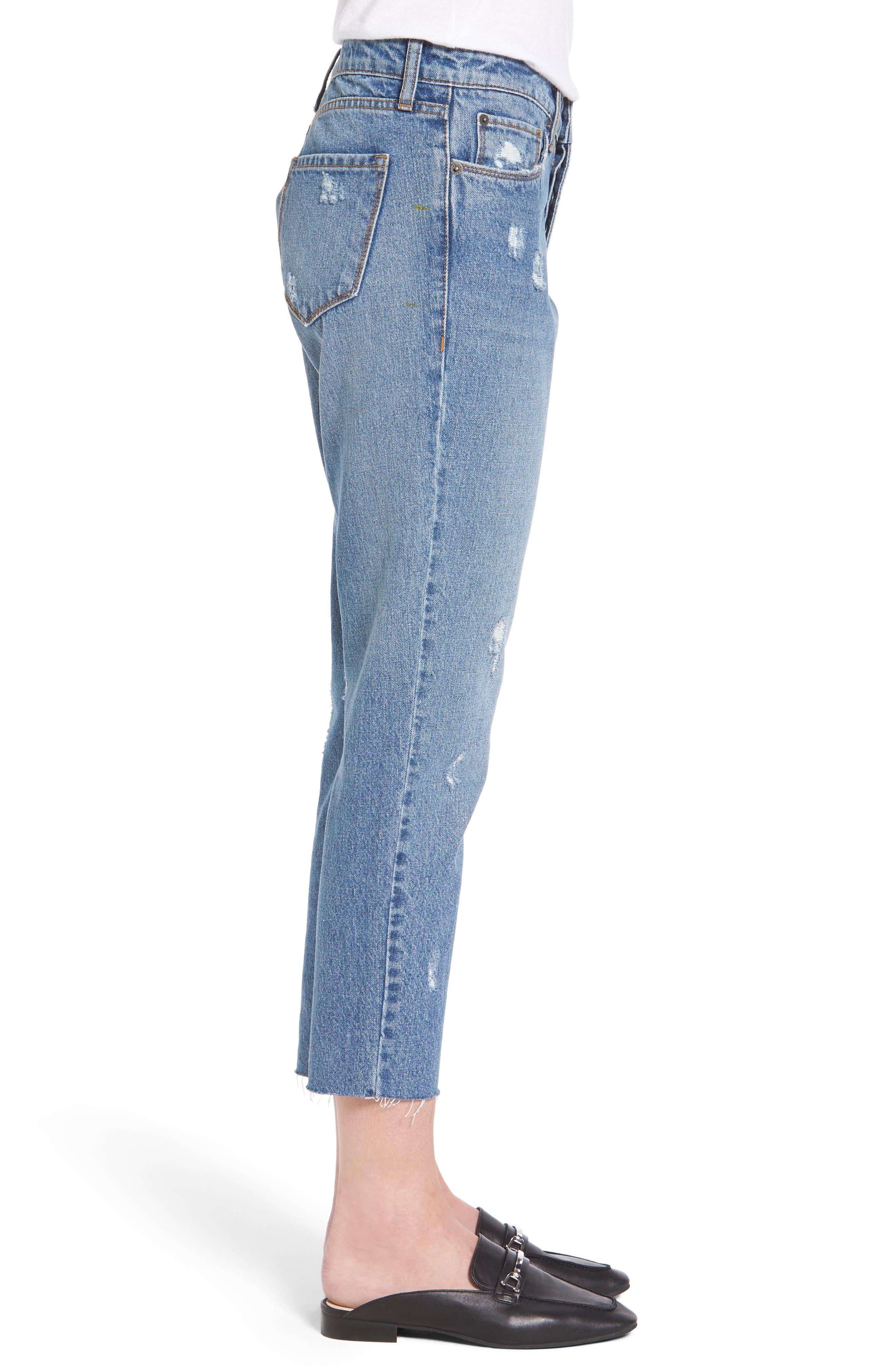 Taylor Ripped Crop Boyfriend Jeans,                             Alternate thumbnail 3, color,                             400