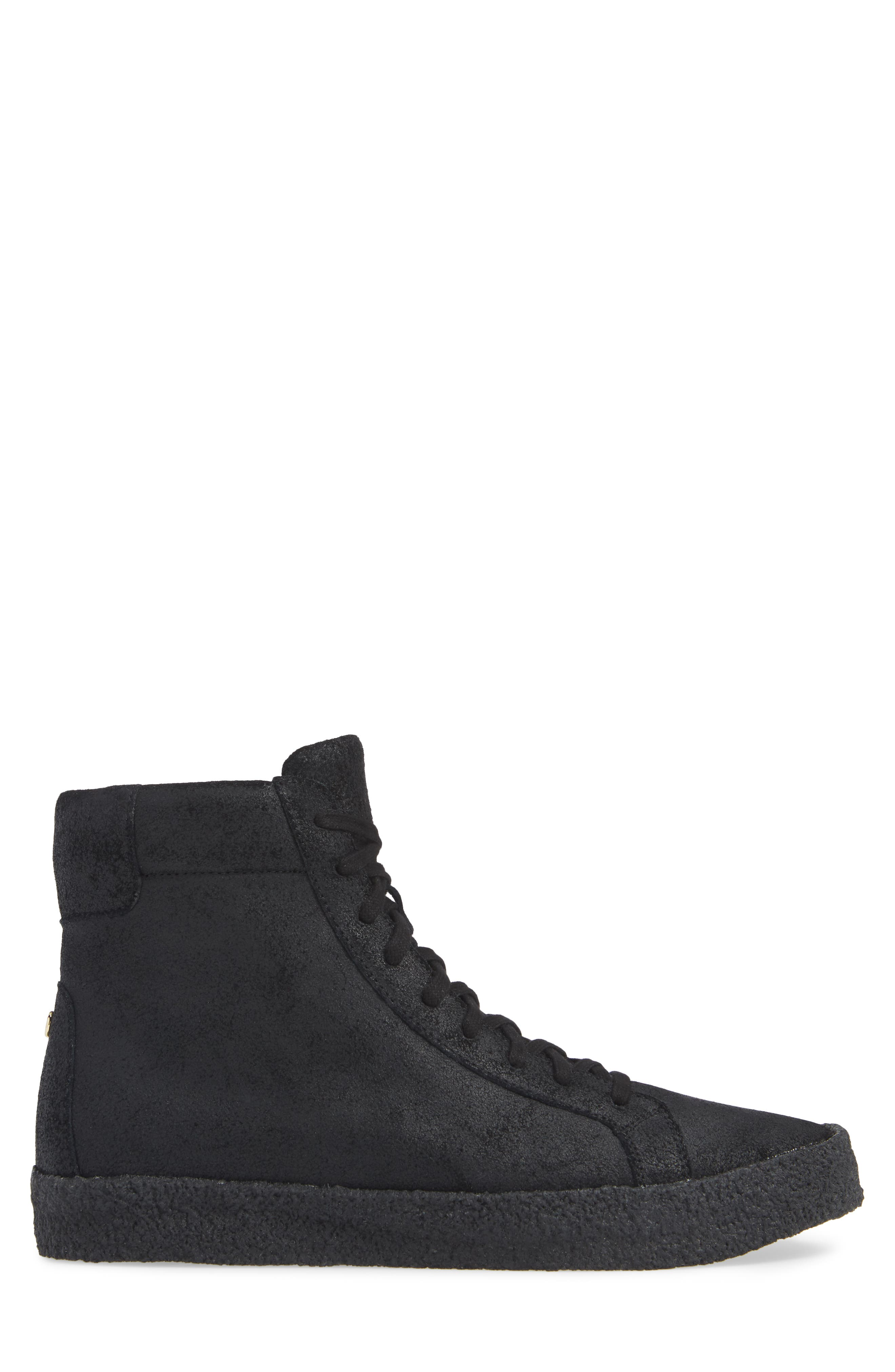 Apa High Top Sneaker,                             Alternate thumbnail 3, color,                             TRIPLE BLACK LEATHER