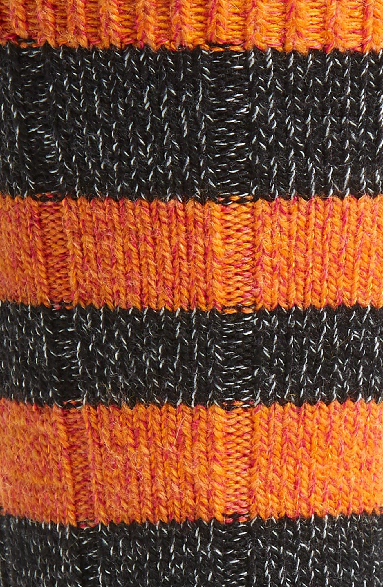 Thick Stripe Socks,                             Alternate thumbnail 2, color,                             BLACK