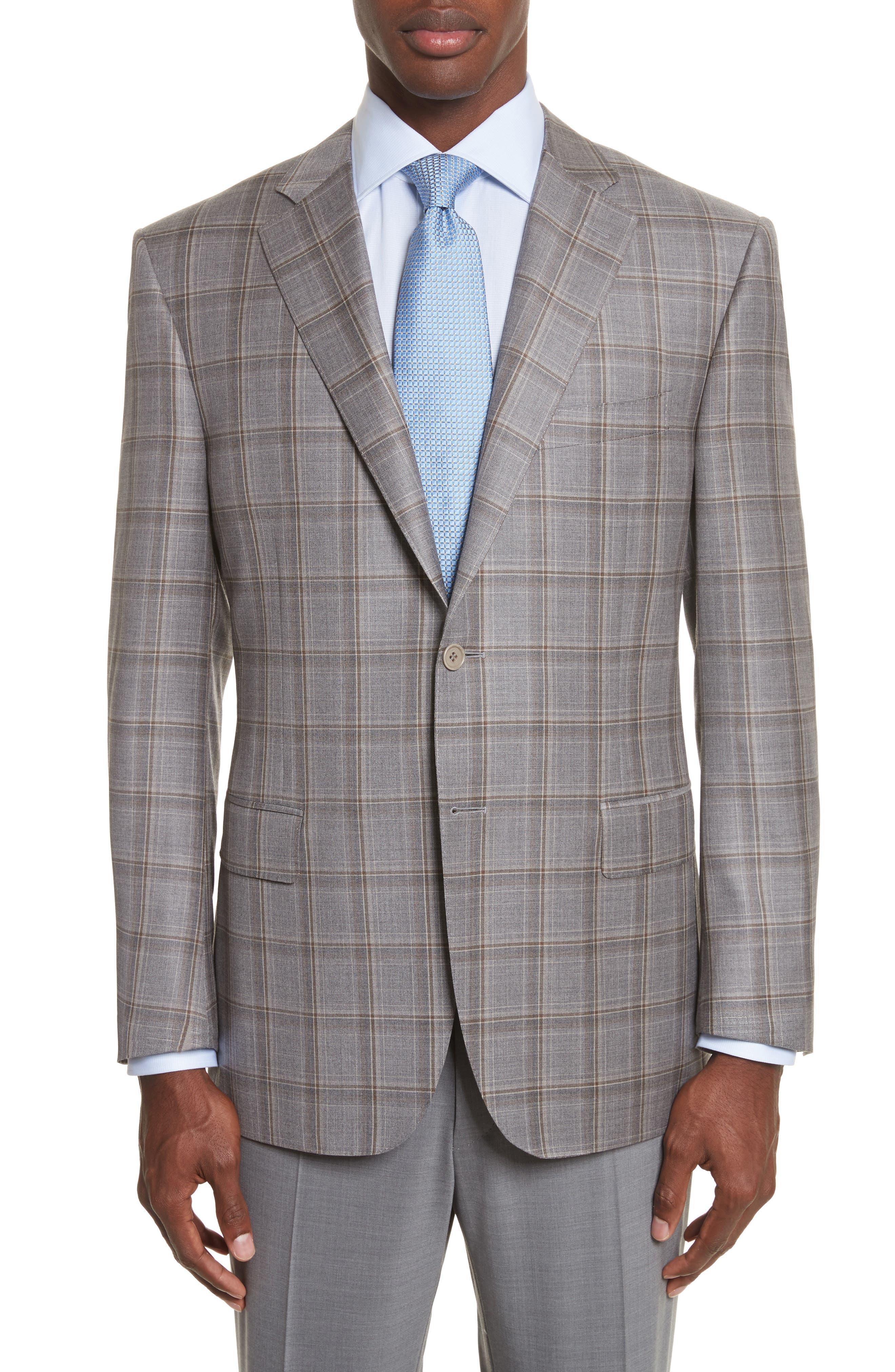 Classic Fit Plaid Wool Sport Coat,                             Main thumbnail 1, color,                             250