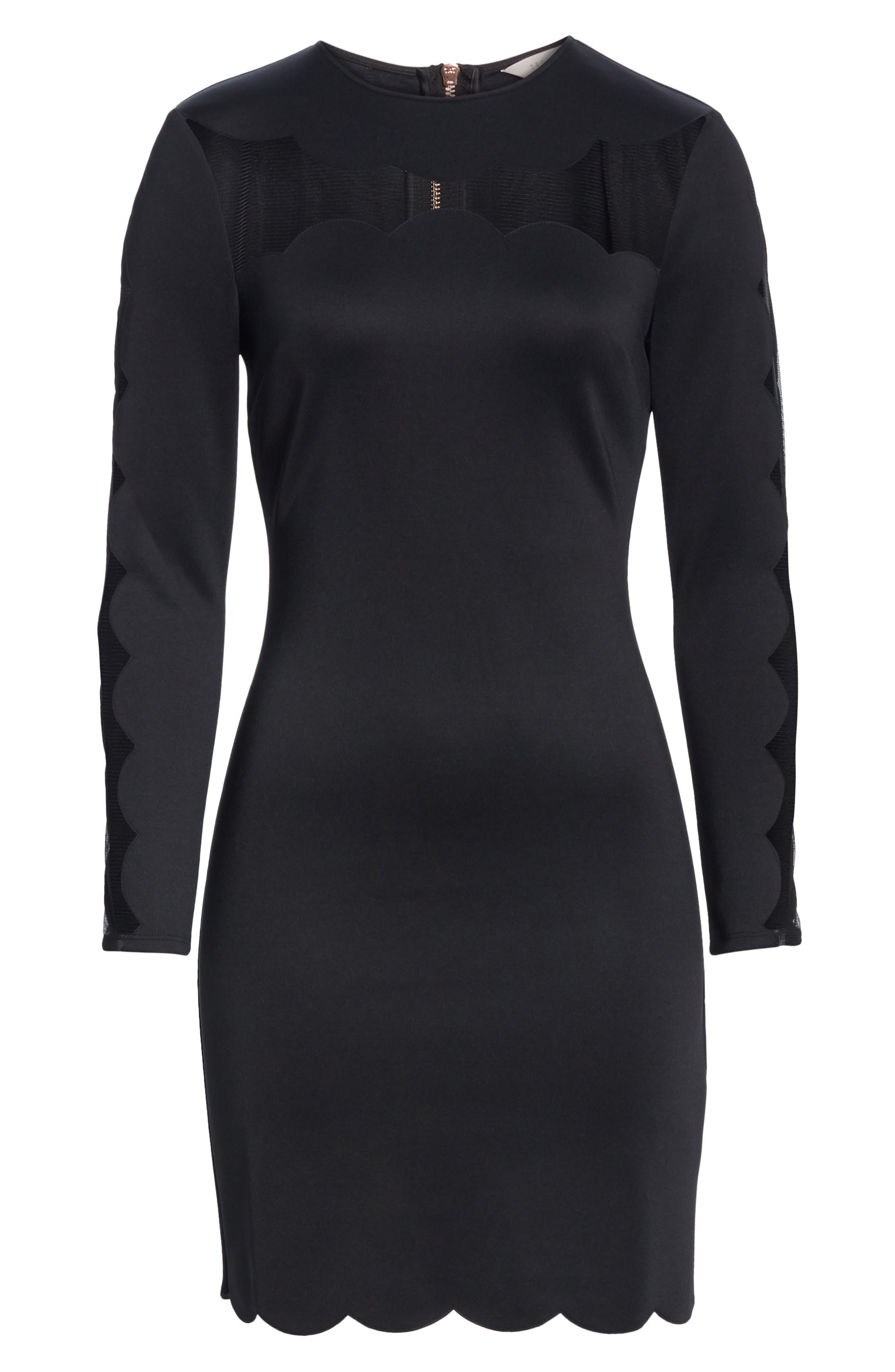 Serenity Joyous Body-Con Dress,                             Alternate thumbnail 6, color,                             BLACK