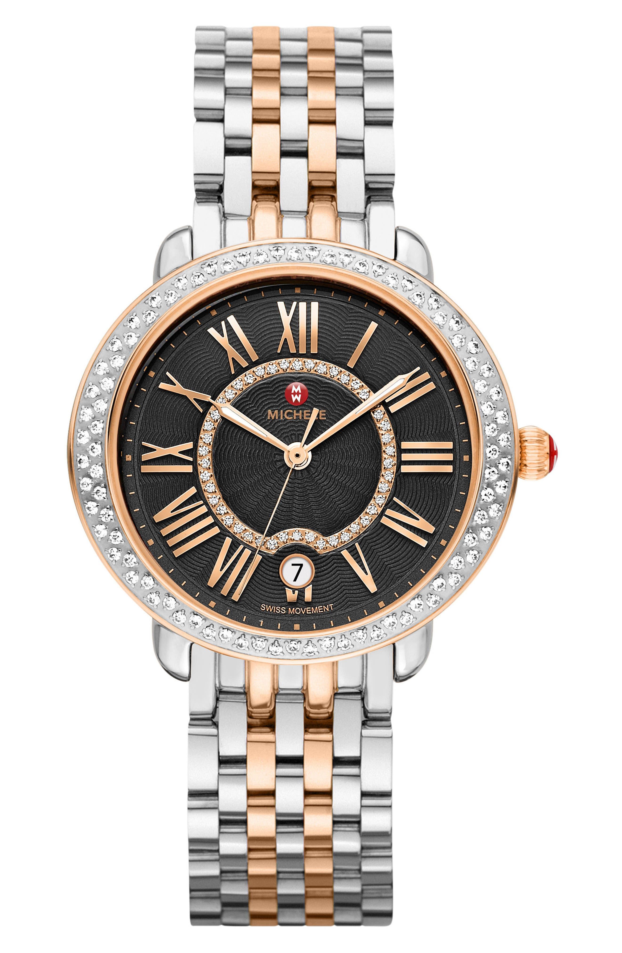 Serein 16 Diamond Watch Case, 34mm x 36mm,                             Alternate thumbnail 3, color,