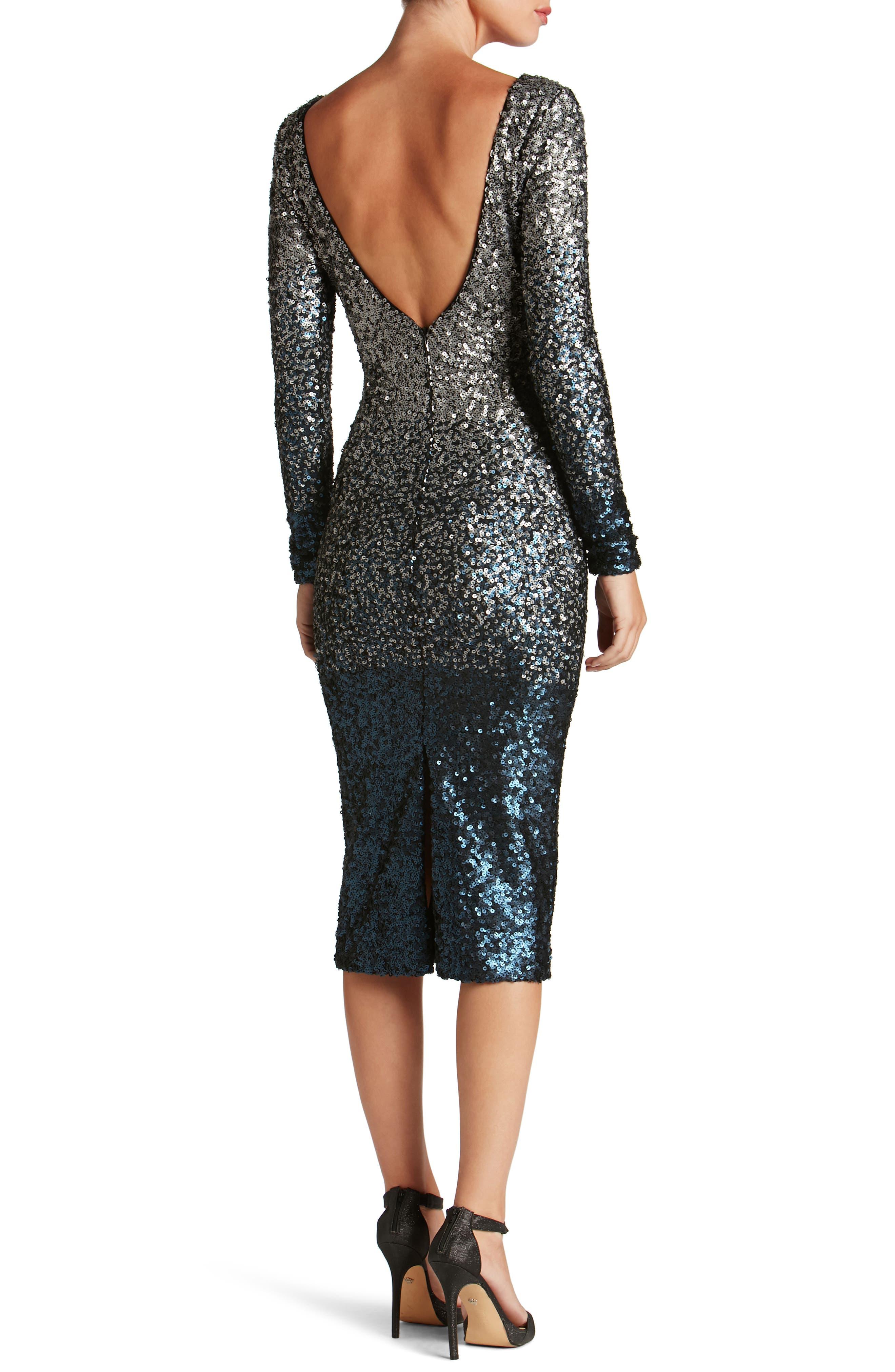 Emery Ombré Sequin Body-Con Dress,                             Alternate thumbnail 7, color,
