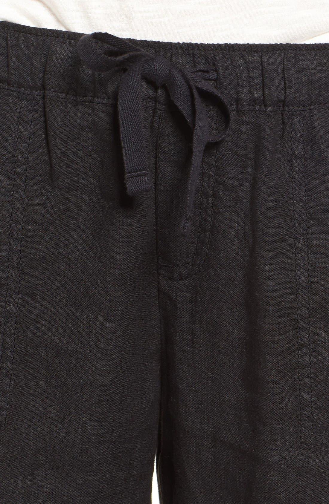 Crop Linen Joggers,                             Alternate thumbnail 20, color,