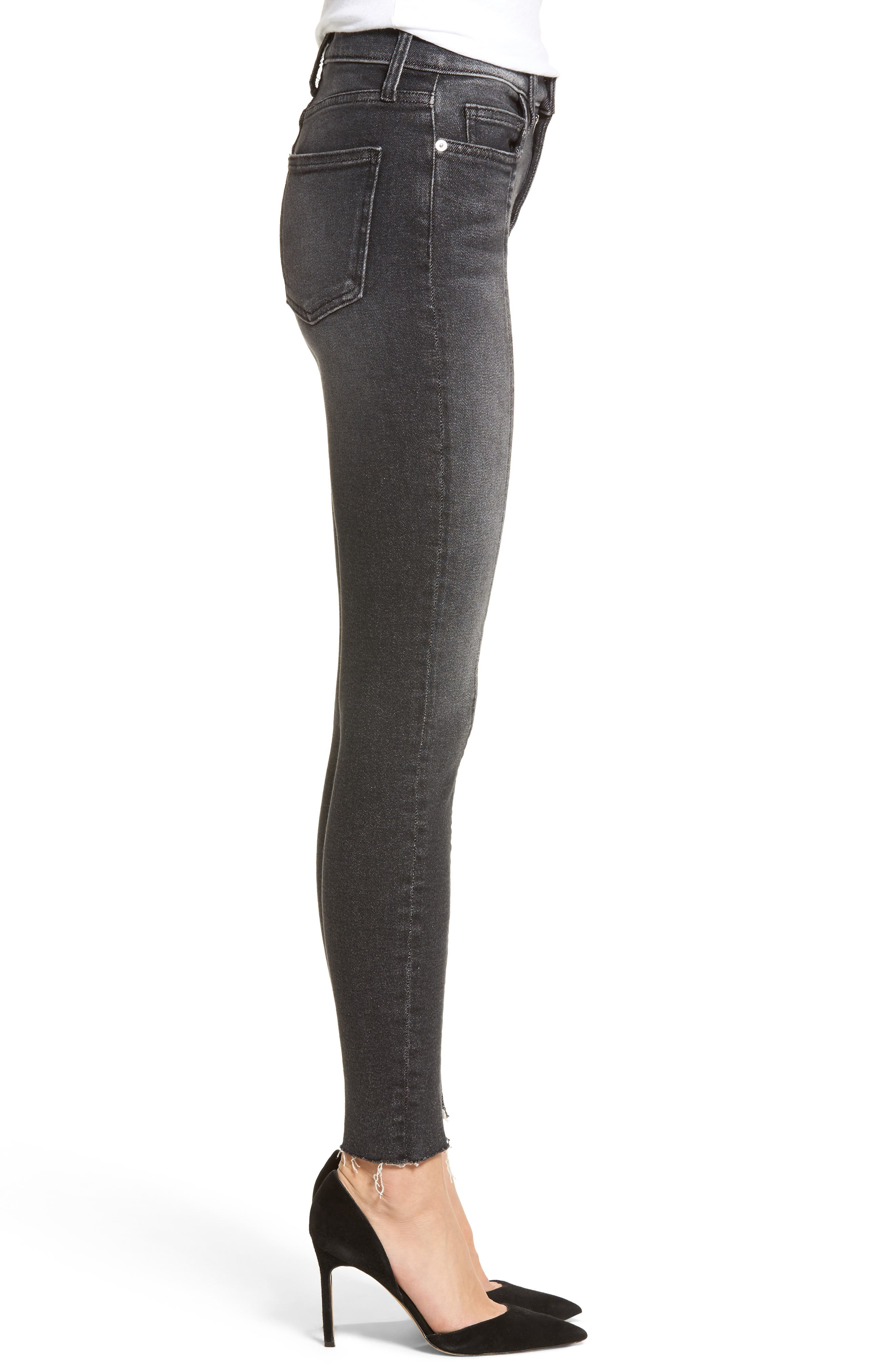 The Ultra High Waist Ankle Skinny Jeans,                             Alternate thumbnail 3, color,                             007