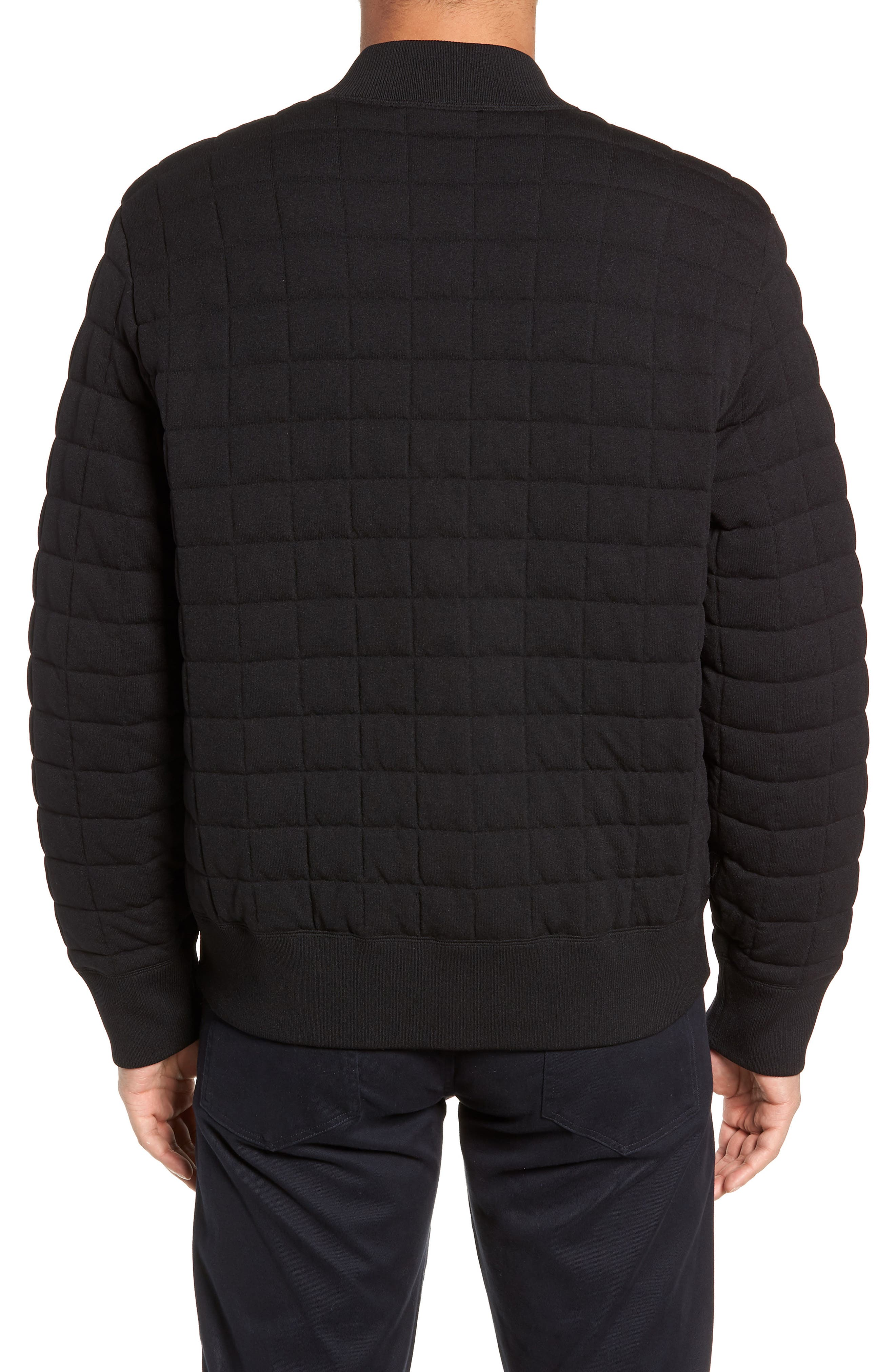 Quilted Bomber Jacket,                             Alternate thumbnail 2, color,                             001