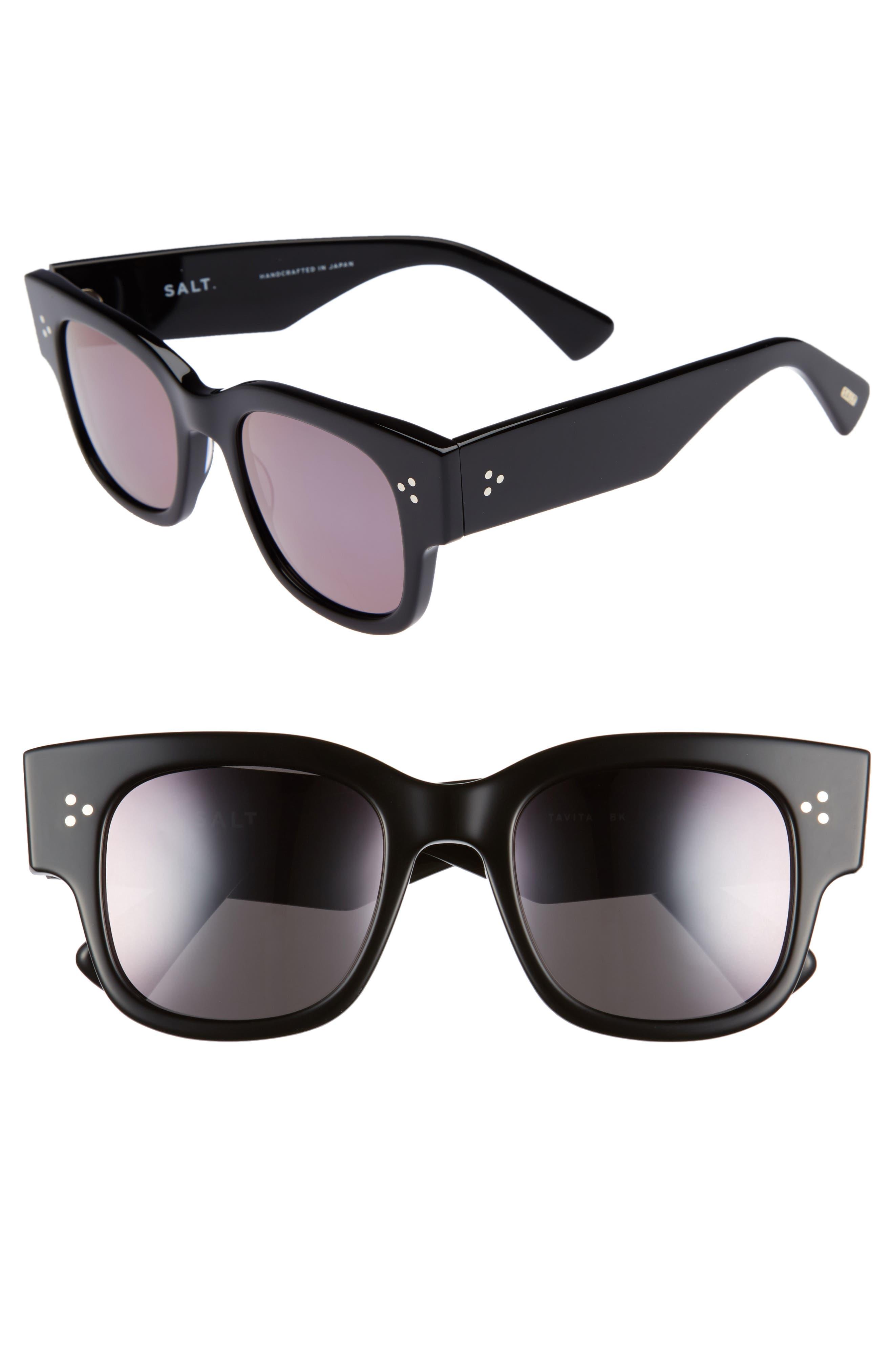 Tavita 50mm Polarized Square Sunglasses,                         Main,                         color, BLACK