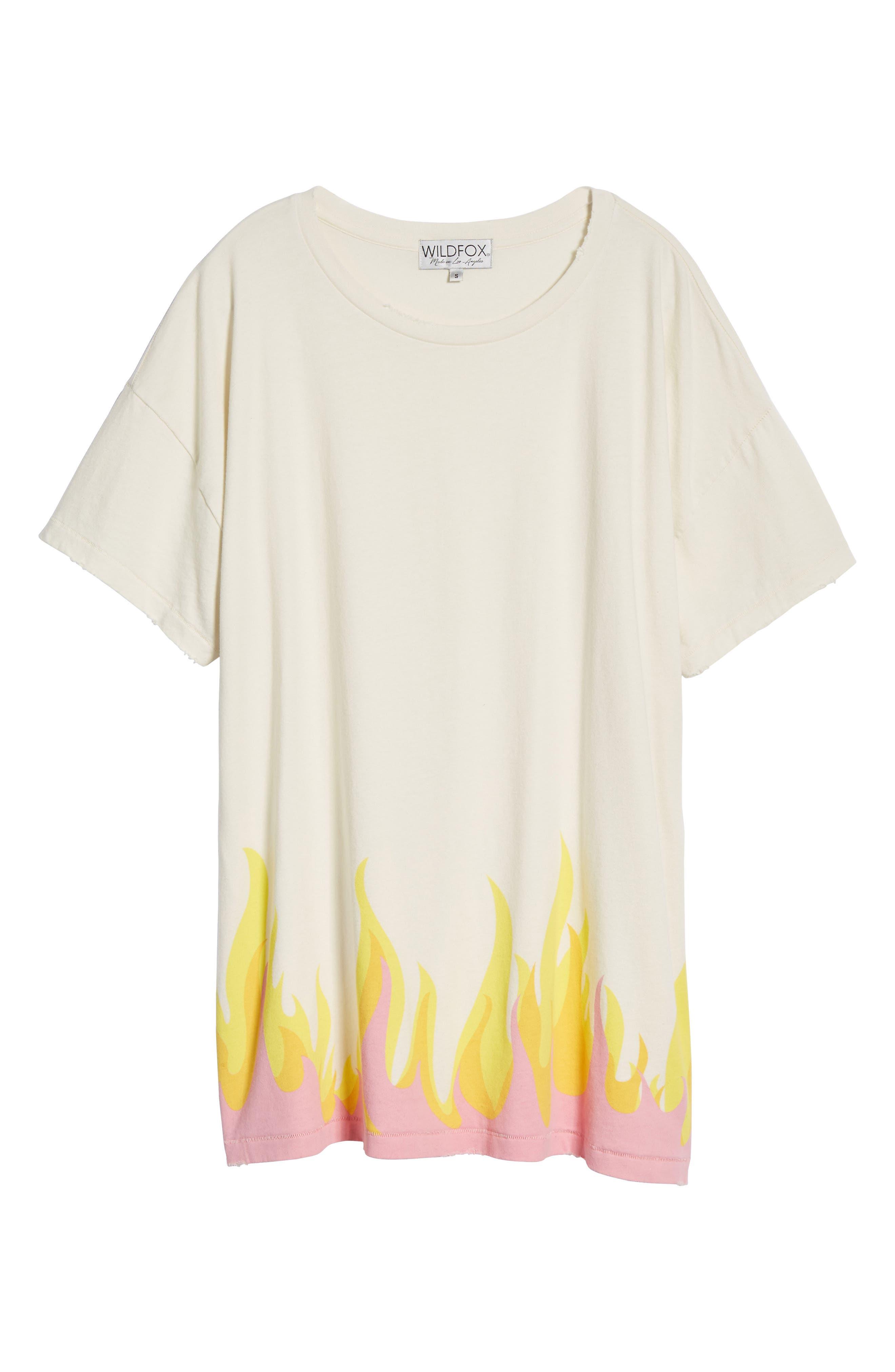 Wildfire T-Shirt Dress,                             Alternate thumbnail 6, color,                             901