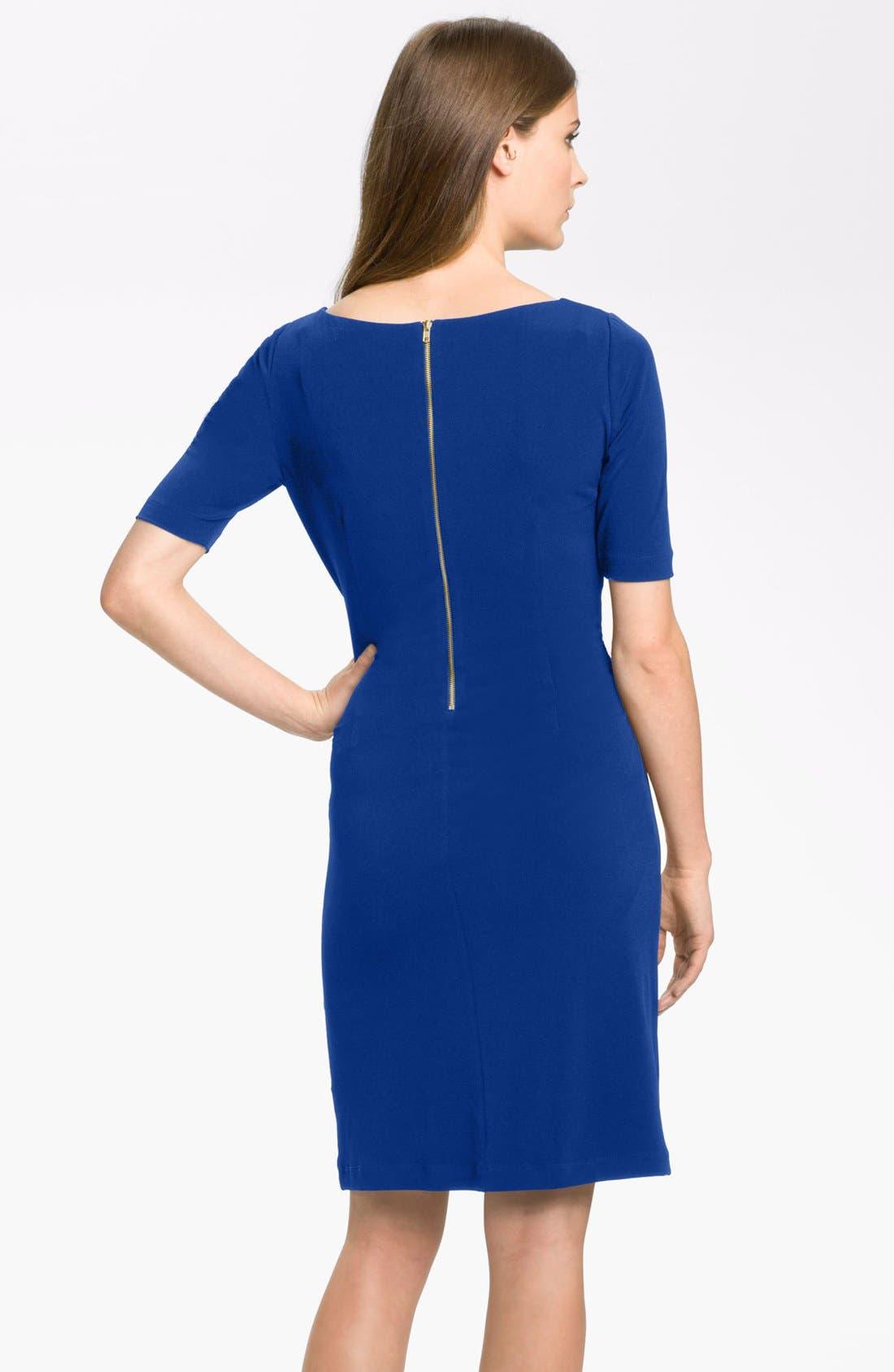 by Arthur S. Levine 'Kevin' Jersey Sheath Dress,                             Alternate thumbnail 9, color,