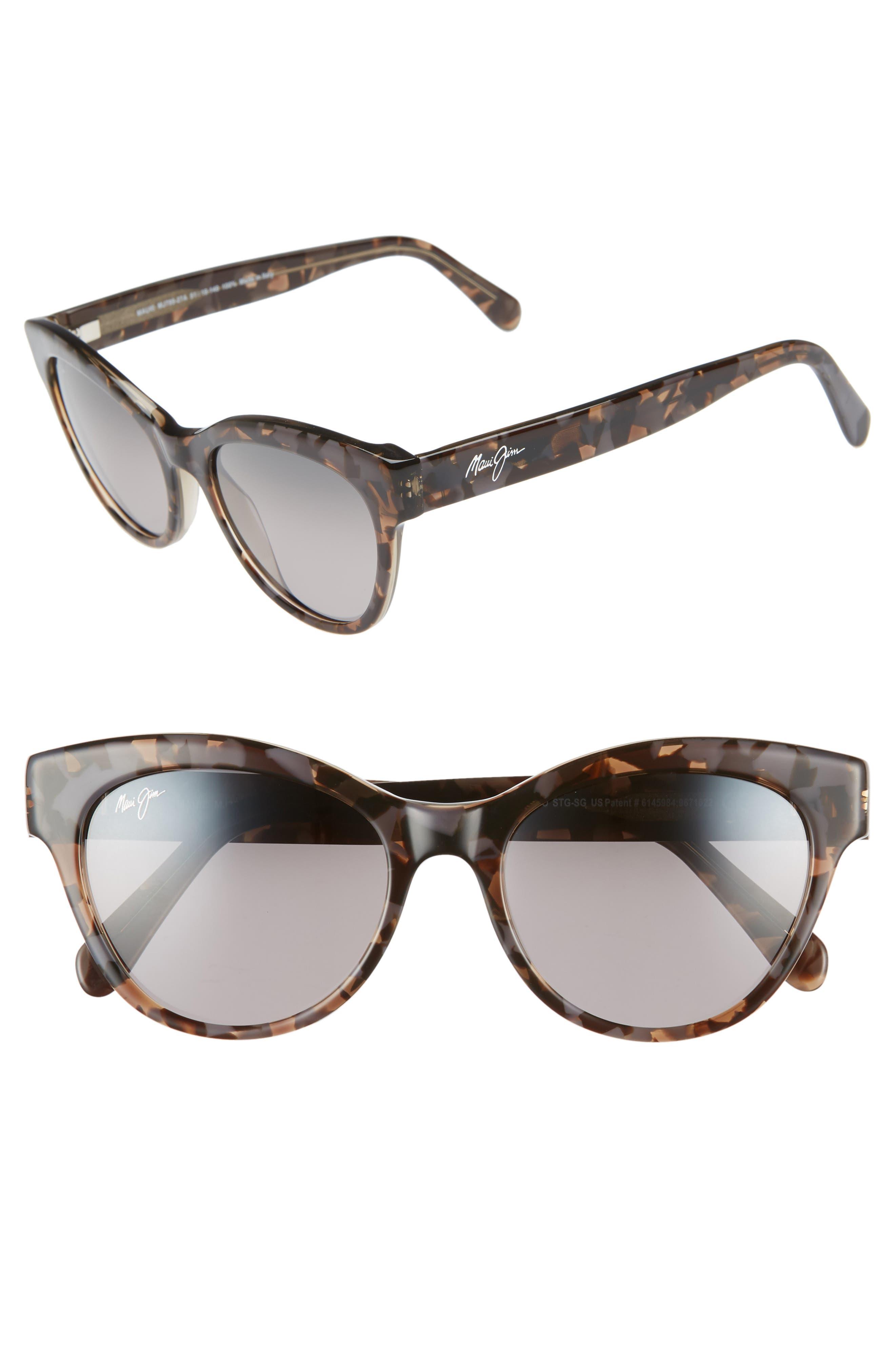 MAUI JIM,                             Ku'uipo 51mm Polarized Cat Eye Sunglasses,                             Main thumbnail 1, color,                             DOVE GREY