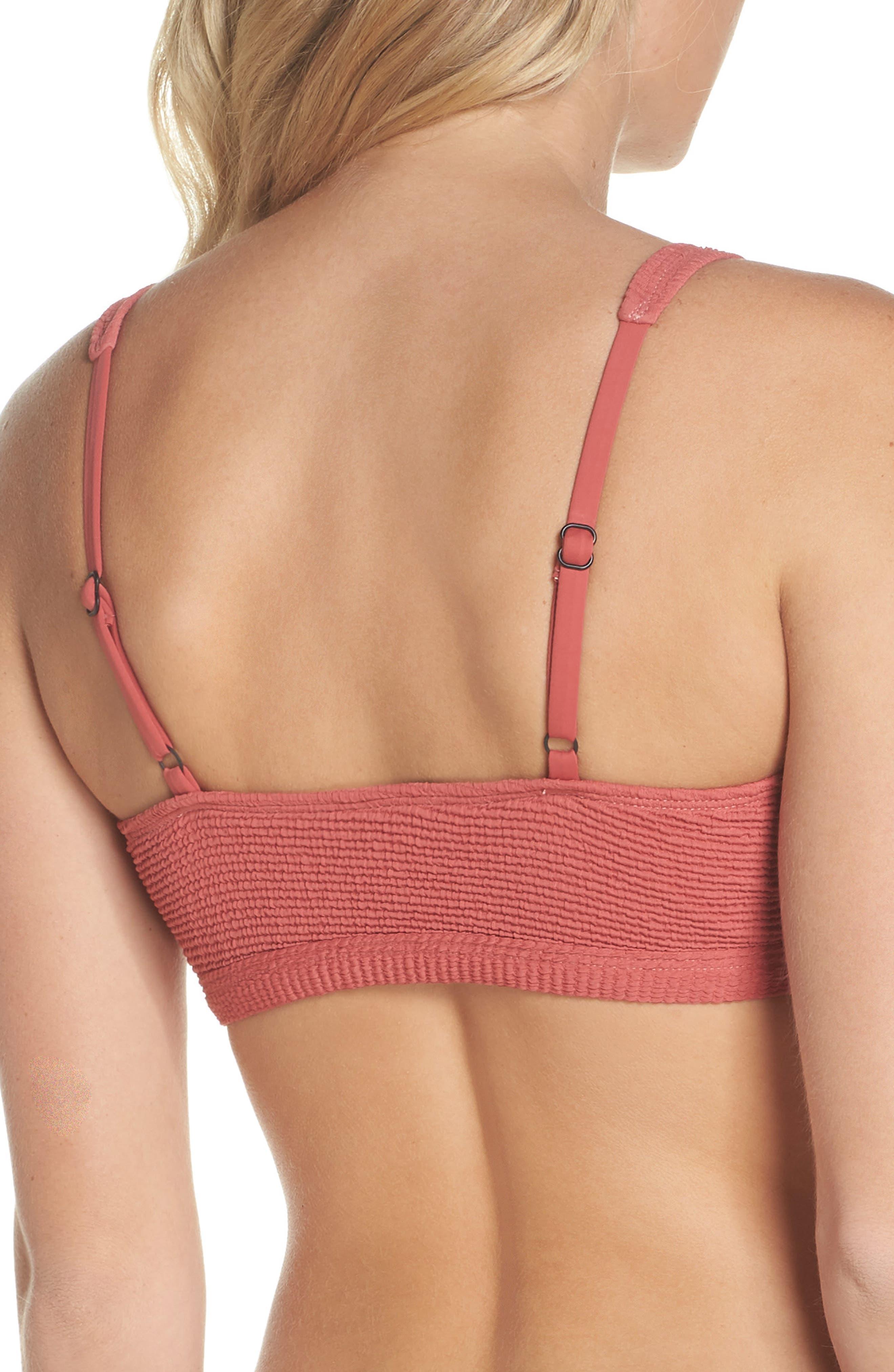 Malibu Bikini Top,                             Alternate thumbnail 2, color,                             RED MINERAL