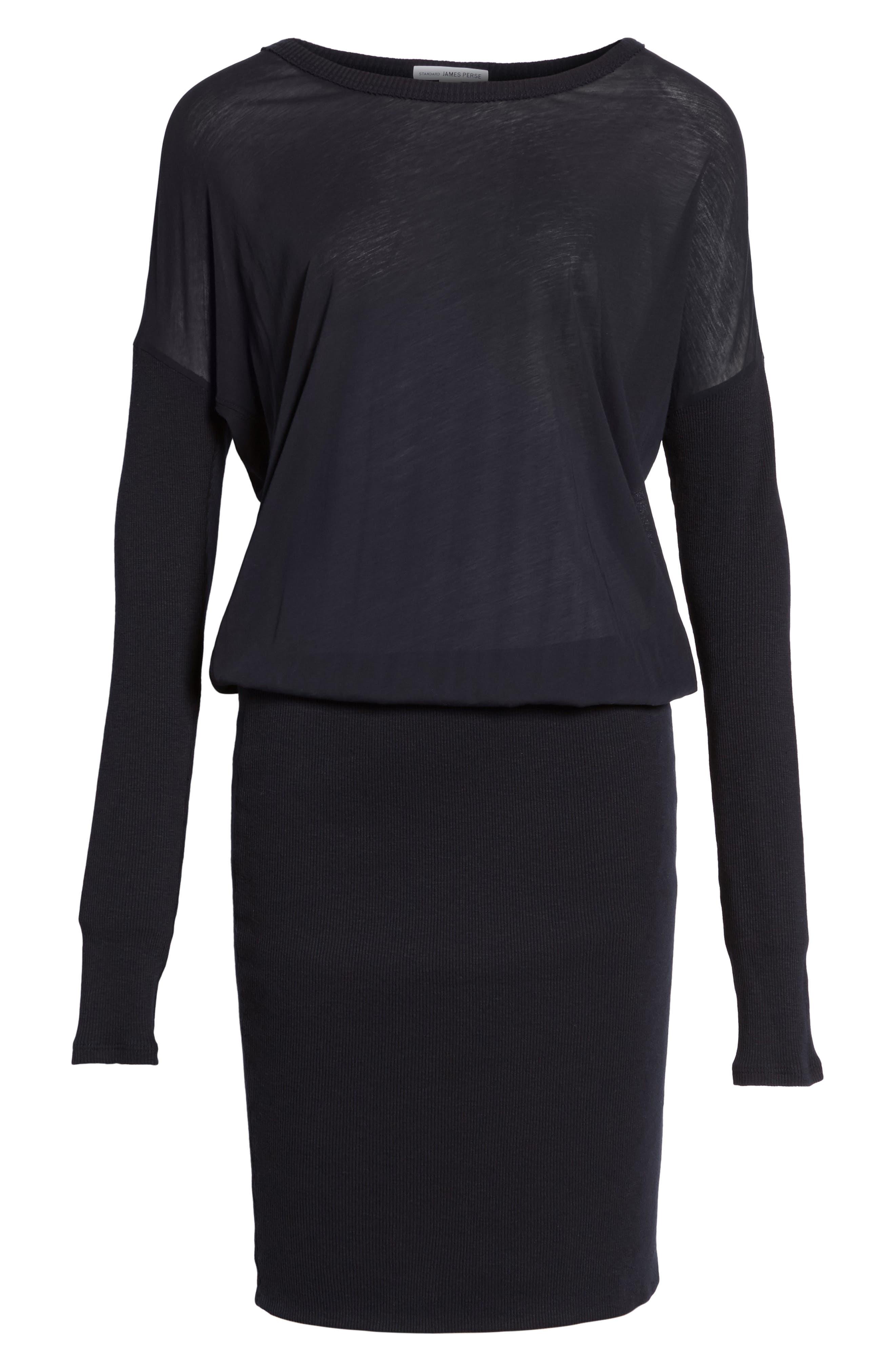 Blouson T-Shirt Dress,                             Alternate thumbnail 6, color,                             415