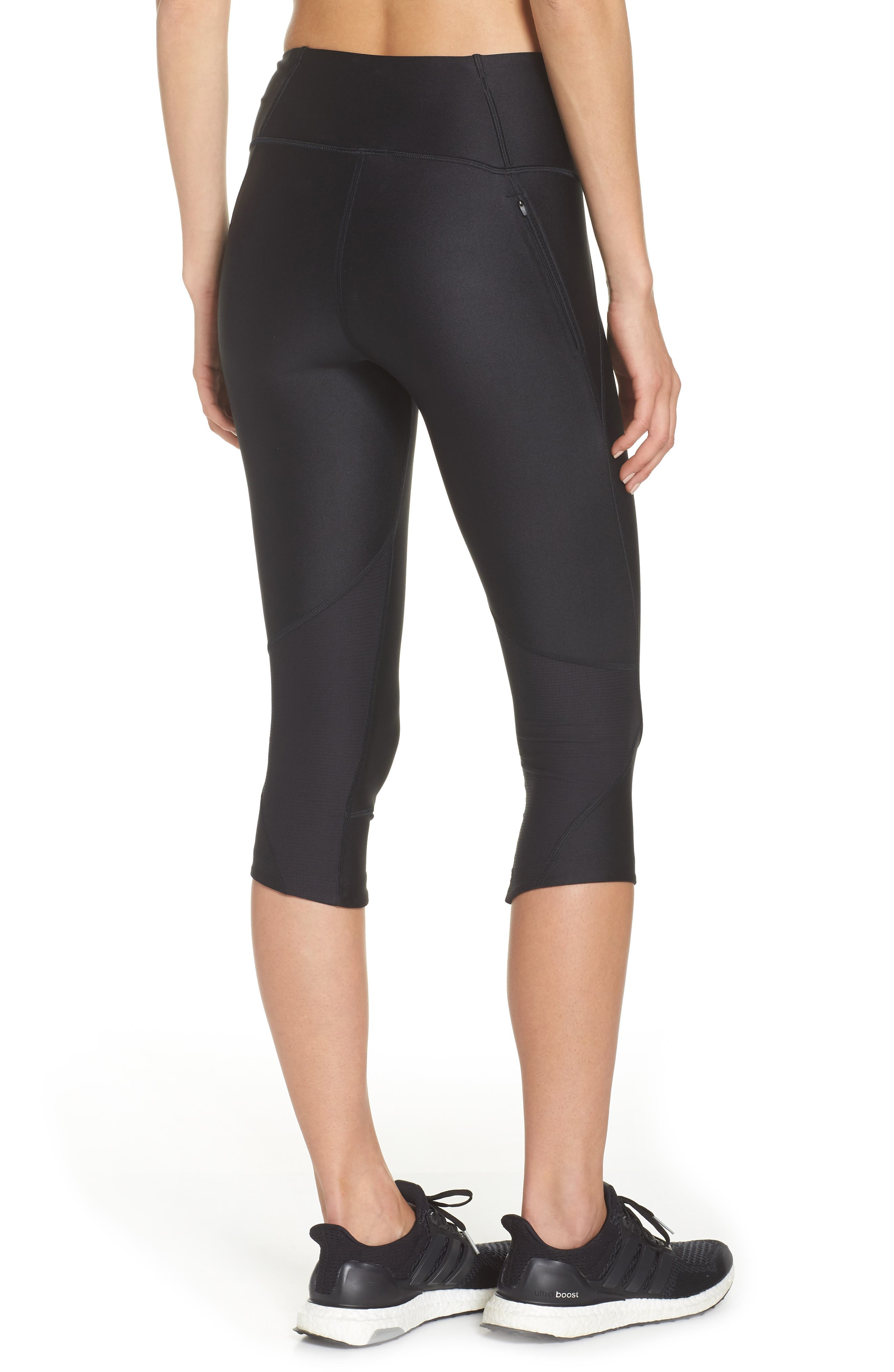 Fly Fast HeatGear<sup>®</sup> Capri Leggings,                             Alternate thumbnail 2, color,                             001