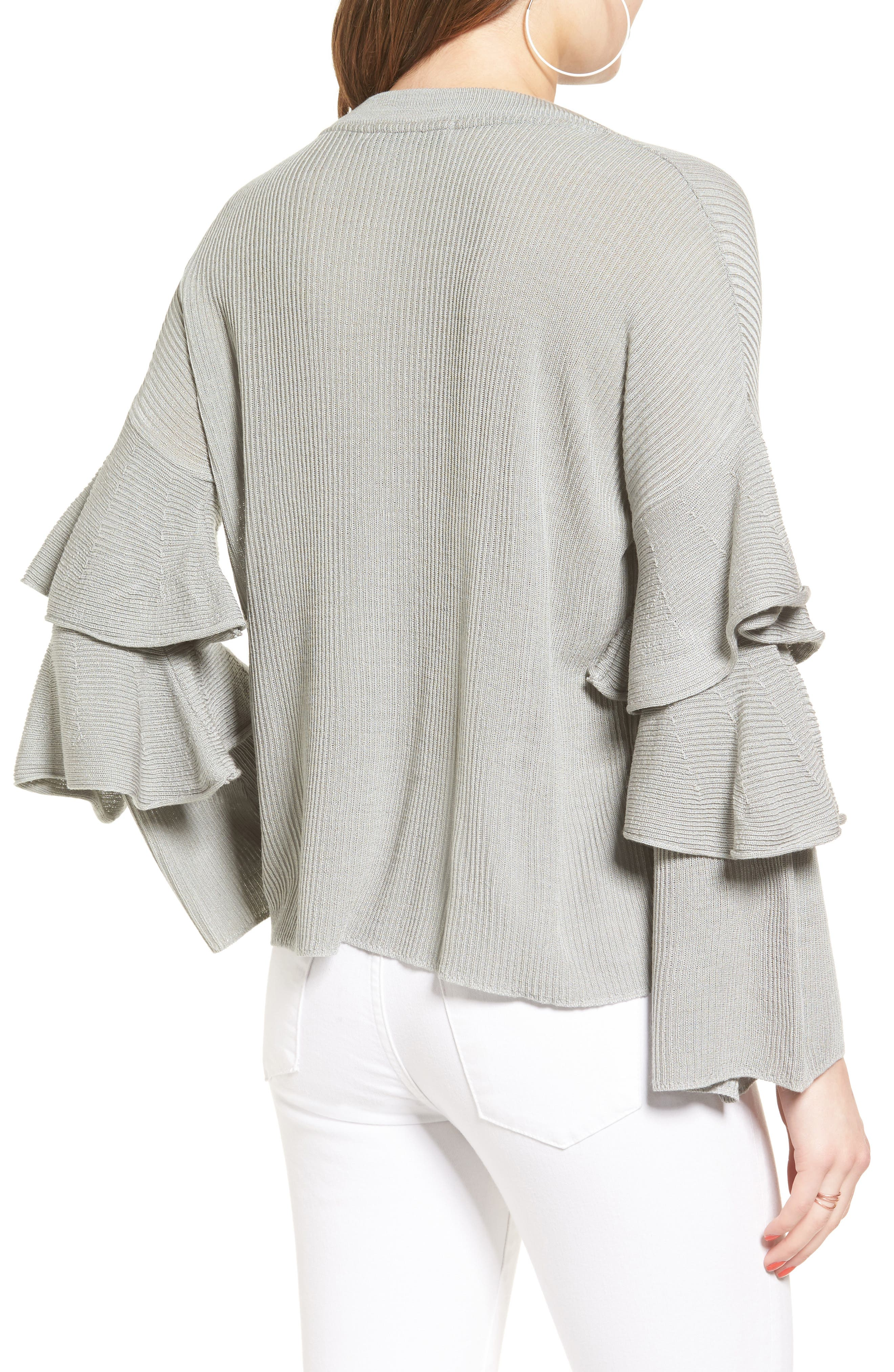 Ruffle Sleeve Sweater,                             Alternate thumbnail 2, color,                             034