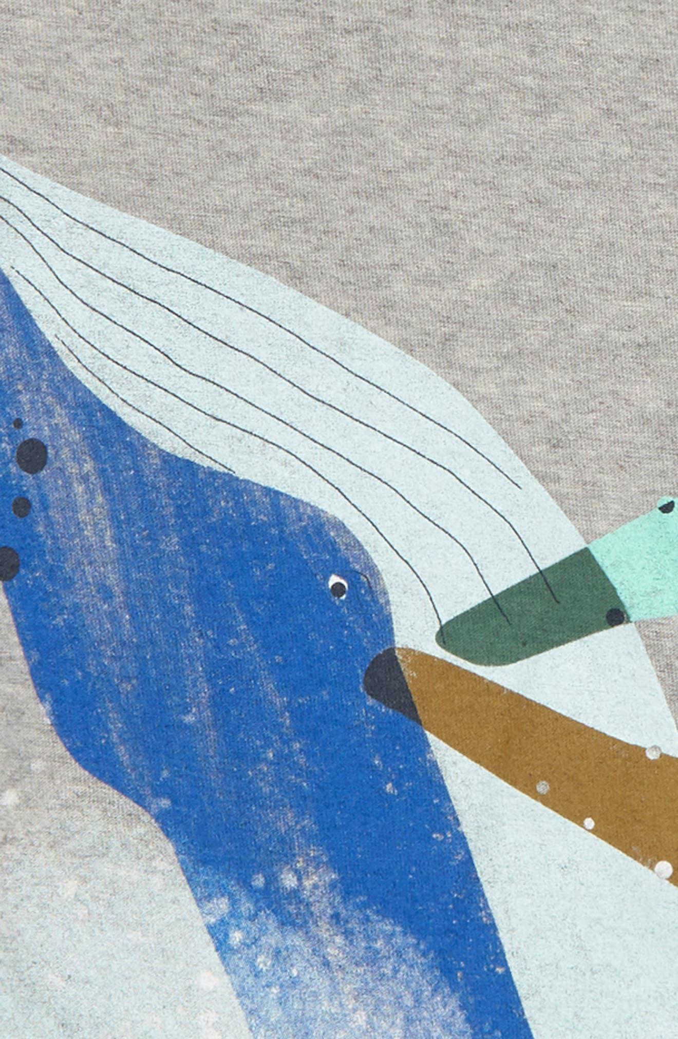 Whale Splash Graphic T-Shirt,                             Alternate thumbnail 2, color,                             035